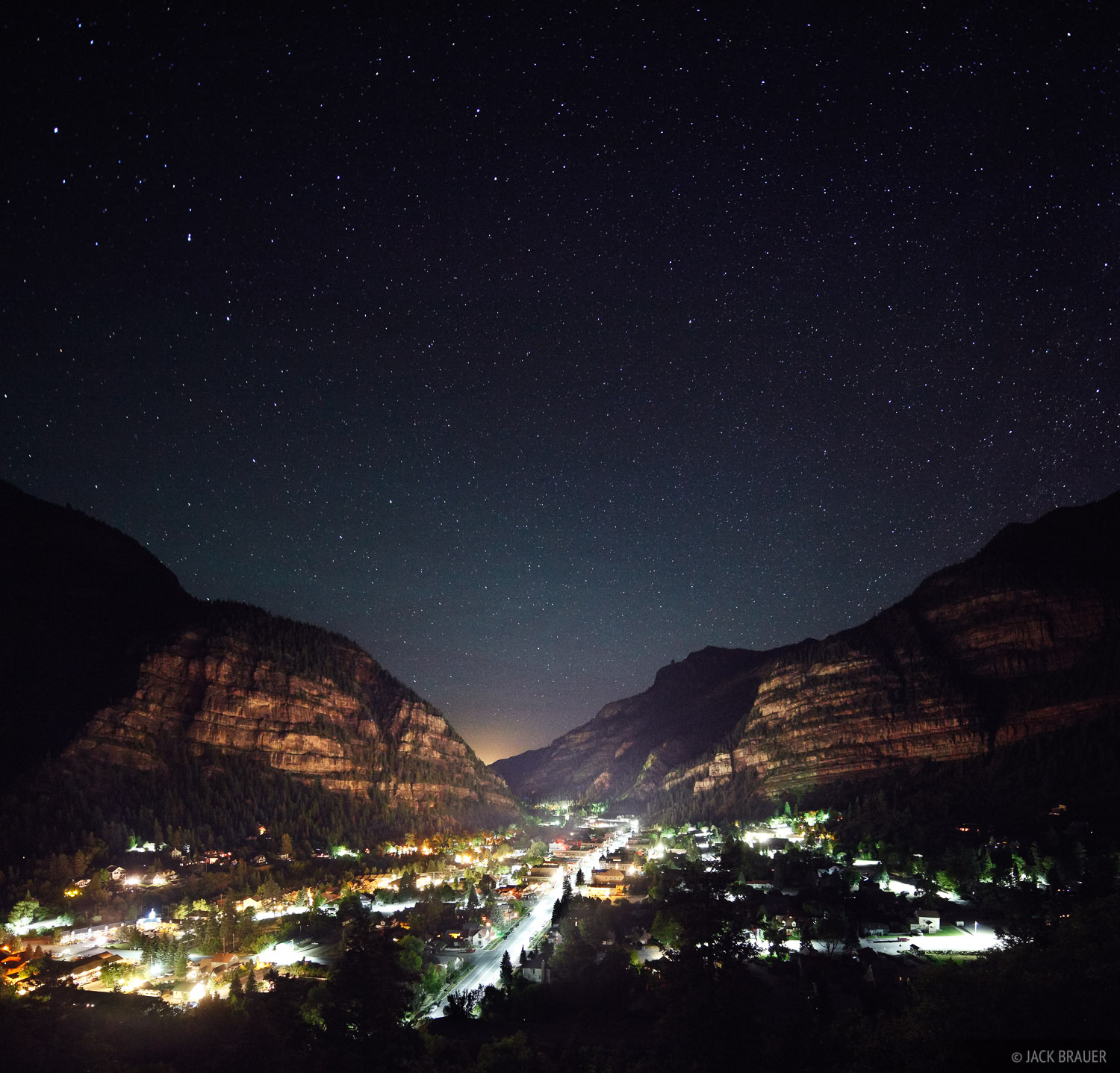 Stars, Ouray, Colorado, night, town, June, photo