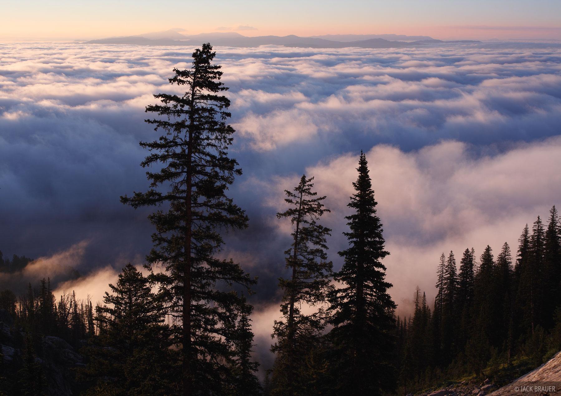 Jackson Hole, Wyoming, inversion, clouds, Tetons, photo