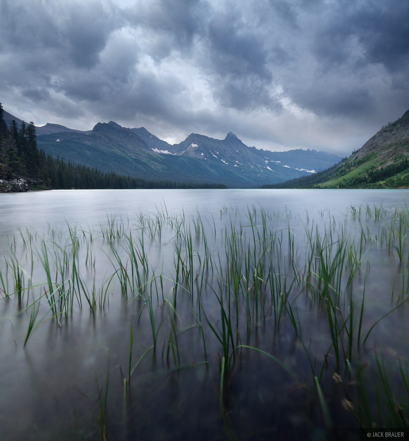 Elizabeth Lake, Glacier National Park, Montana, stormy, photo