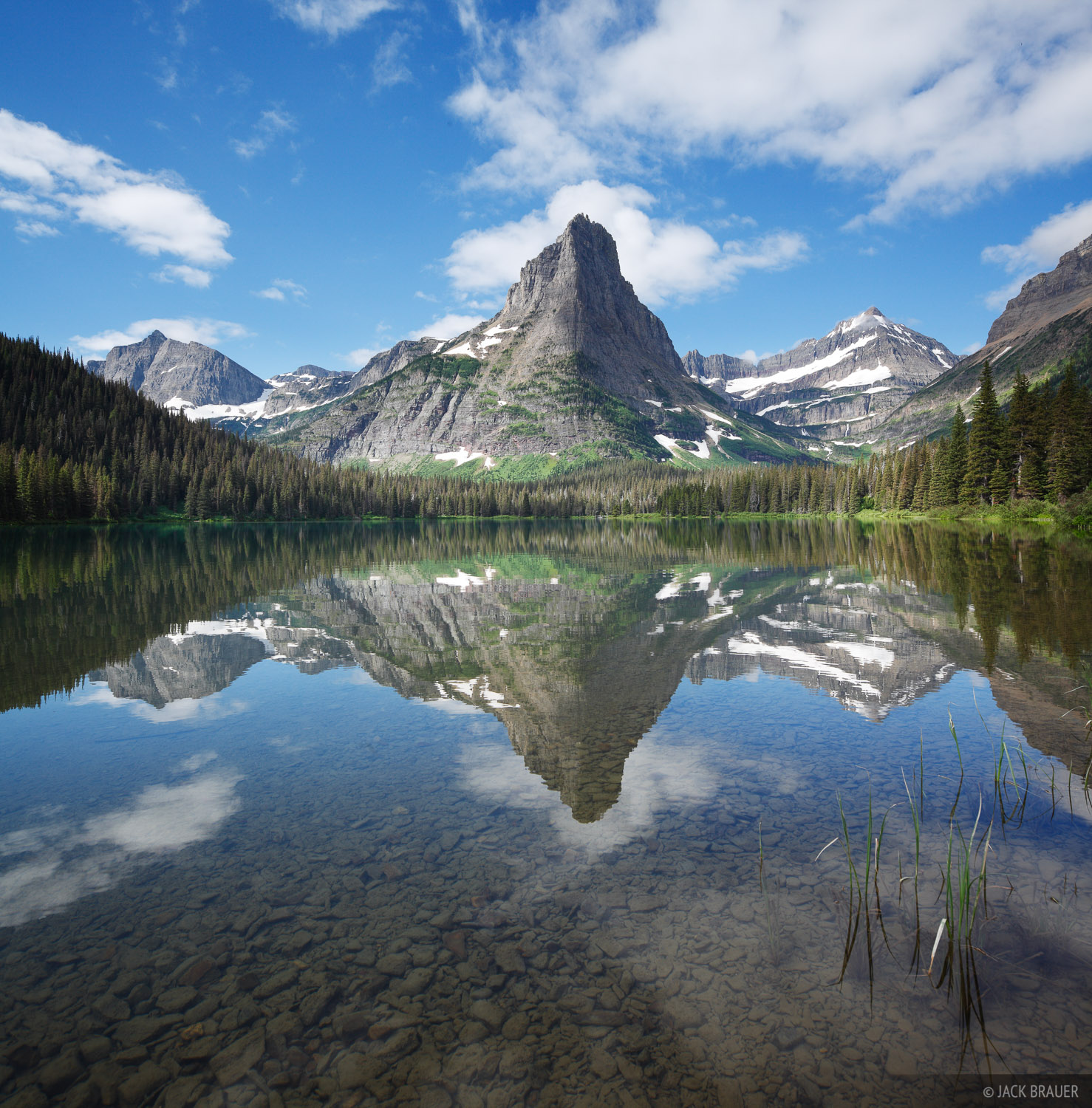 Pyramid Peak Morning Glacier National Park Montana