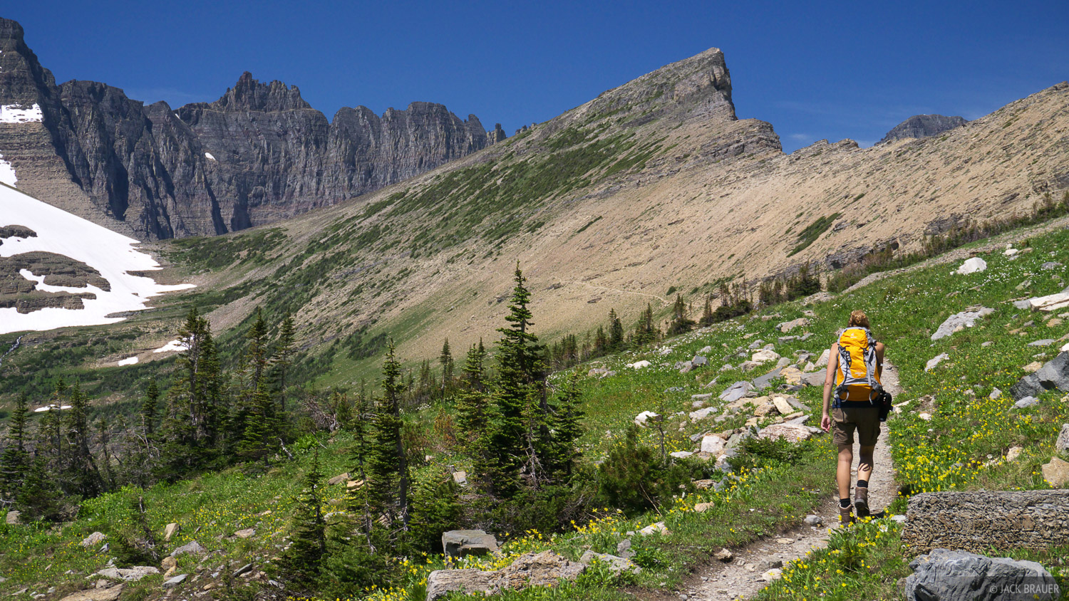 Piegan Pass, Glacier National Park, Montana, hiking, photo