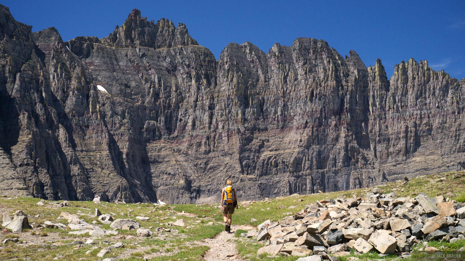Piegan Pass, Glacier National Park, Montana, hiking, photo
