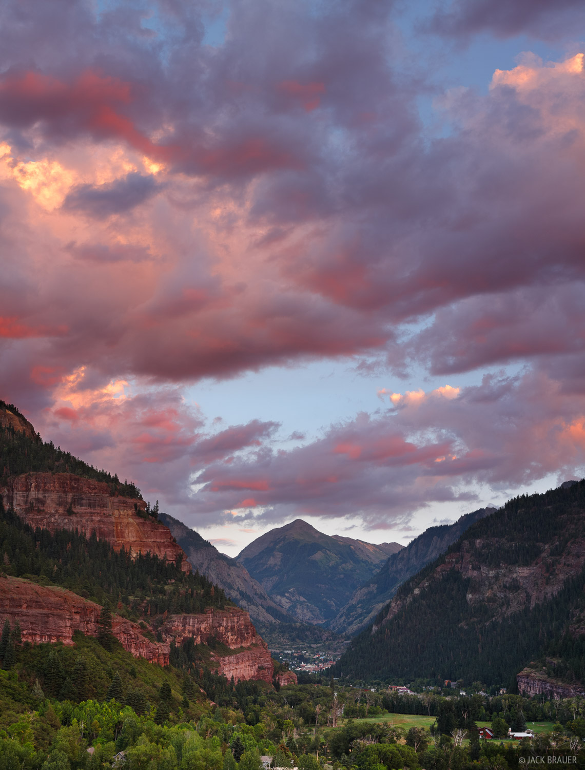 Ouray, Colorado, Mt. Abrams, sunset, August, photo
