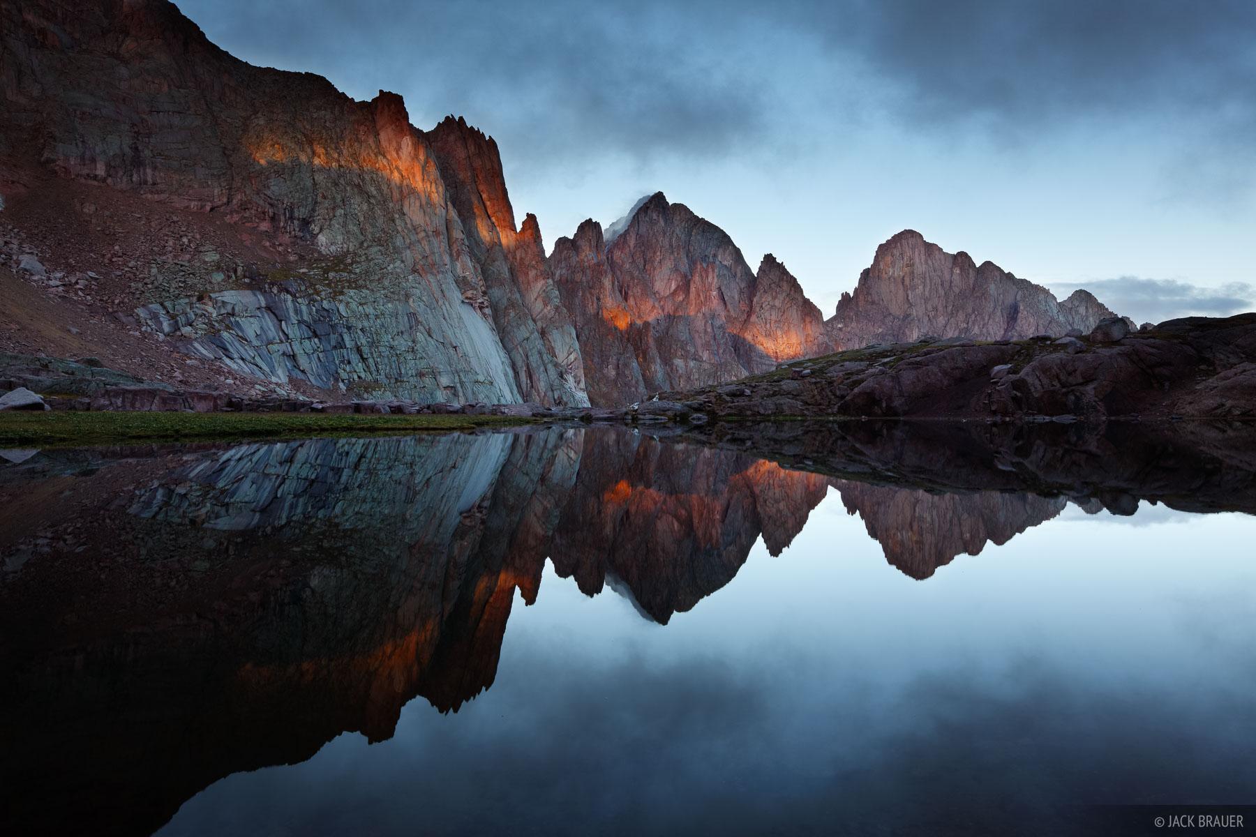 Needle Mountains, Weminuche Wilderness, San Juan Mountains, Colorado, sunrise, photo