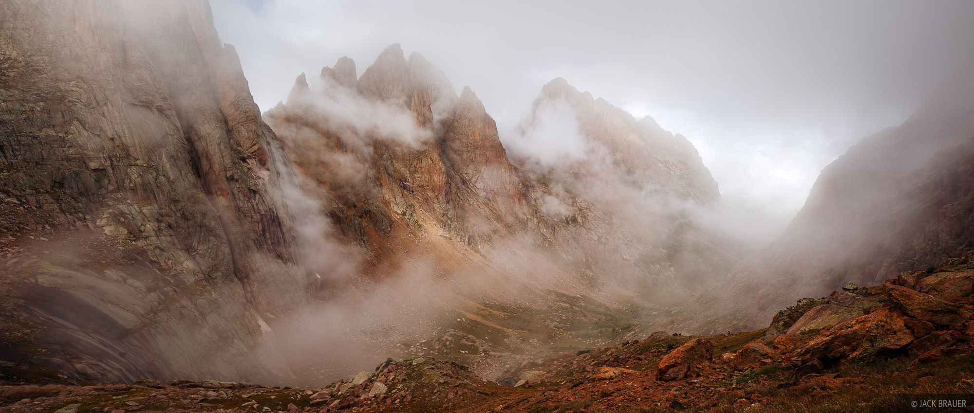 Needle Mountains, clouds, San Juan Mountains, Colorado, photo