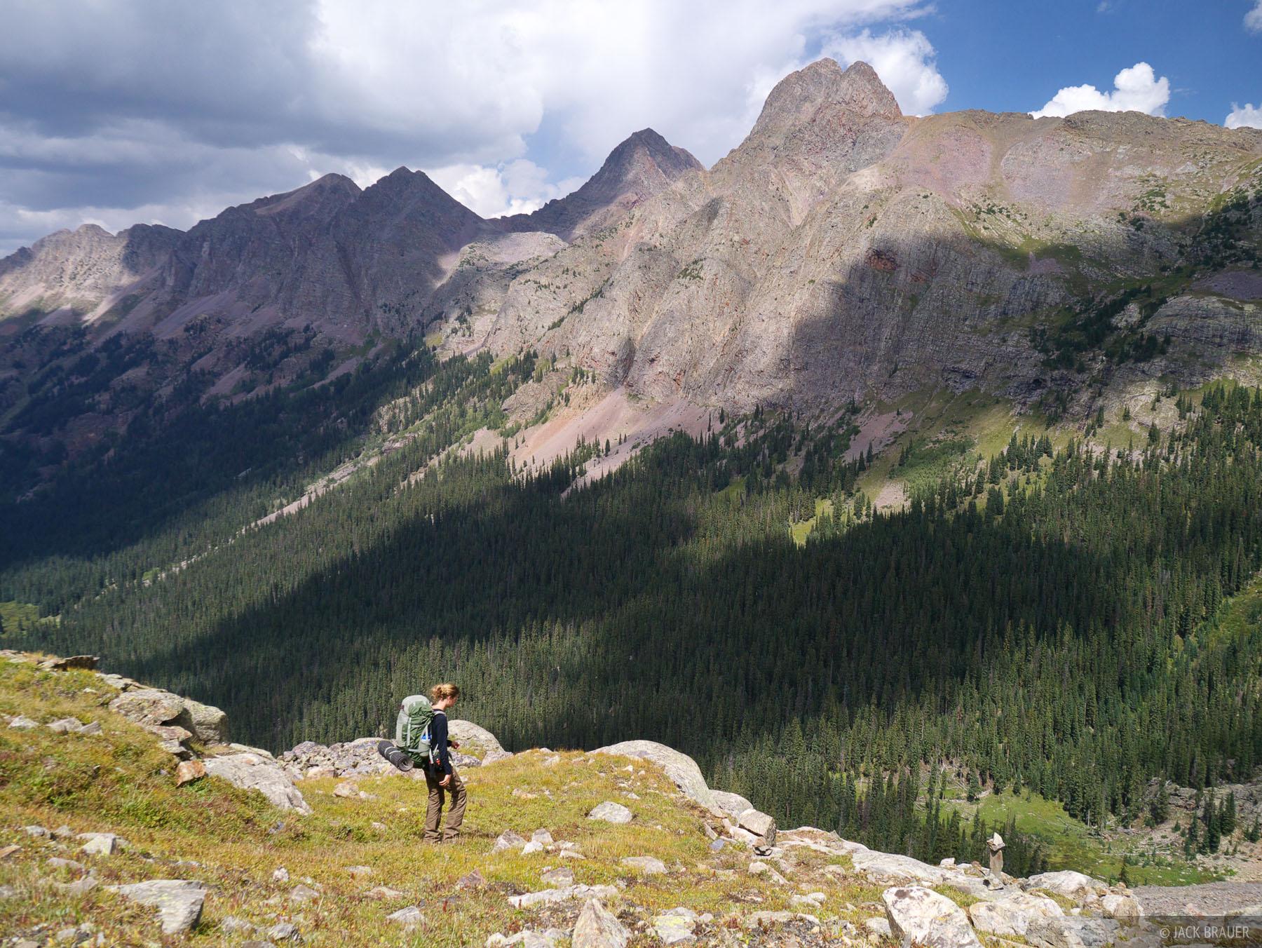 Vestal Peak, Grenadier Range, Weminuche Wilderness, San Juan Mountains, Colorado, hiking, backpacking, photo