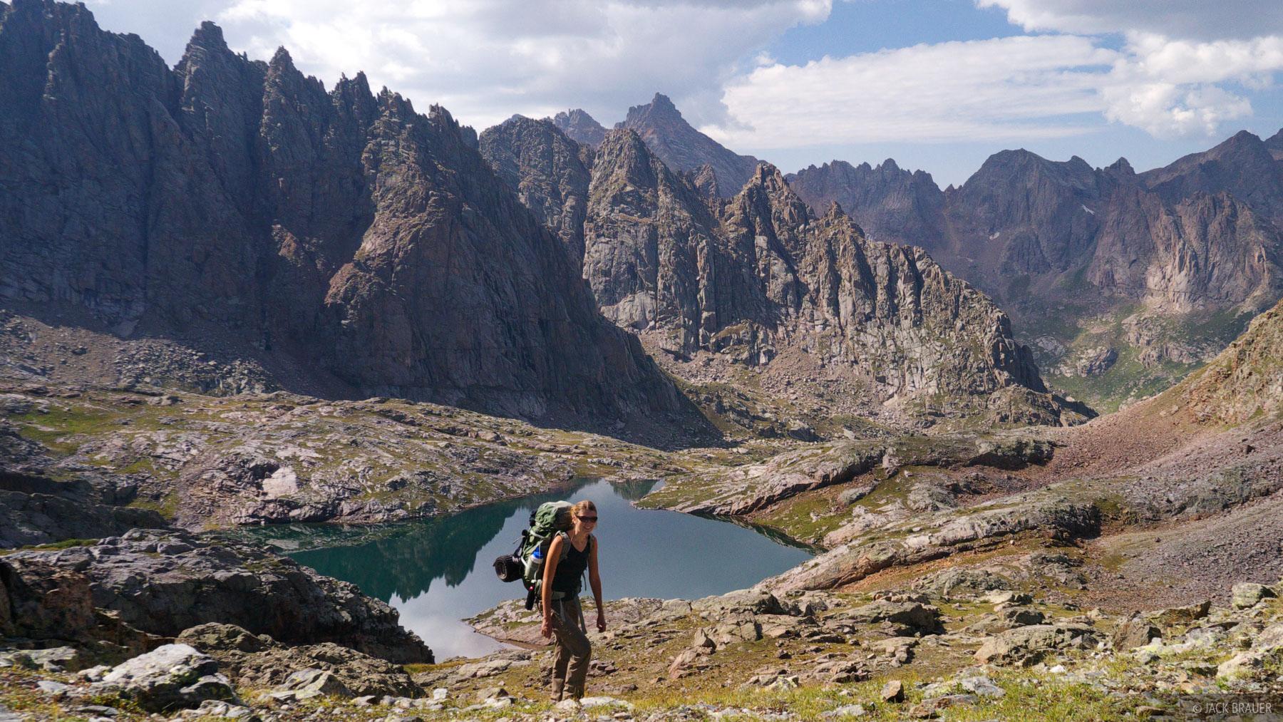 Needle Mountains, hiking, San Juan Mountains, Colorado, August, Weminuche Wilderness, photo