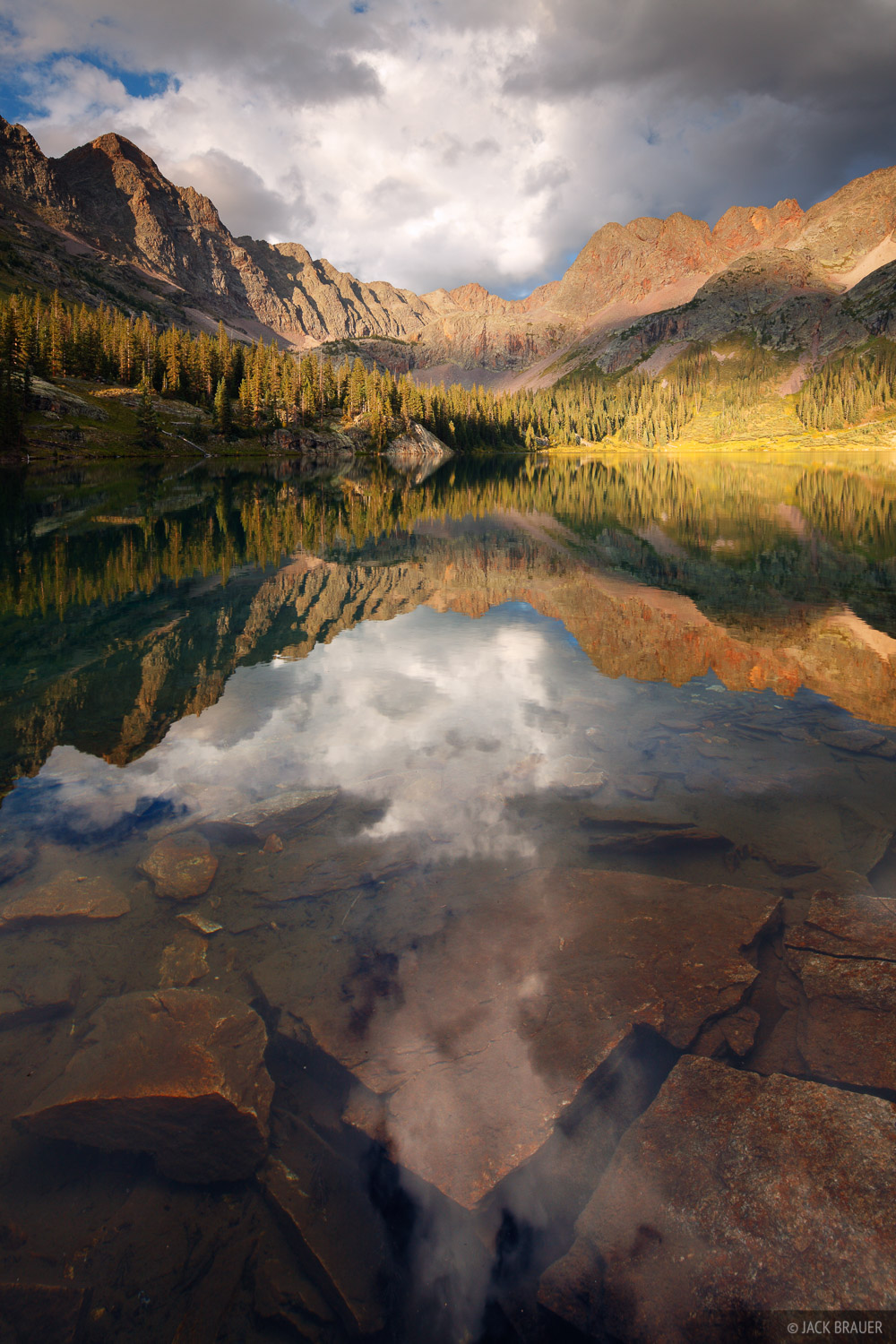 Weminuche Wilderness, San Juan Mountains, Colorado, reflection, photo