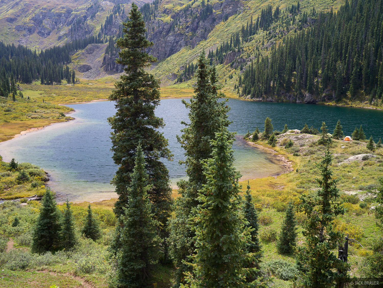 Emerald Lake, Weminuche Wilderness, San Juan Mountains, Colorado, september, photo
