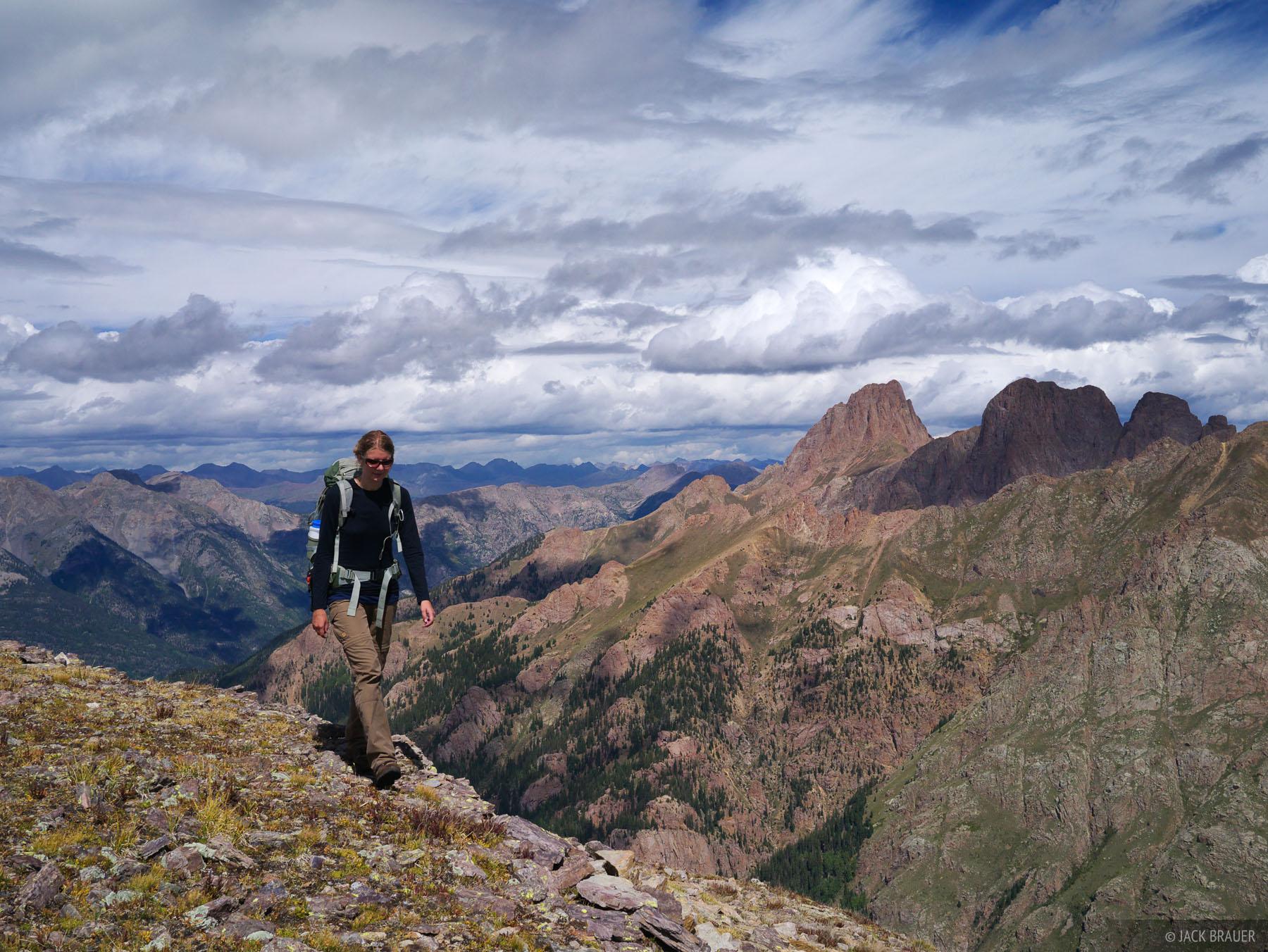 Pigeon Peak, Weminuche Wilderness, San Juan Mountains, Colorado, hiking, photo