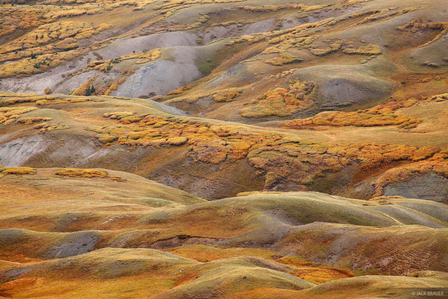 Stony Pass, autumn, tundra, San Juan Mountains, Colorado, September, abstract, photo