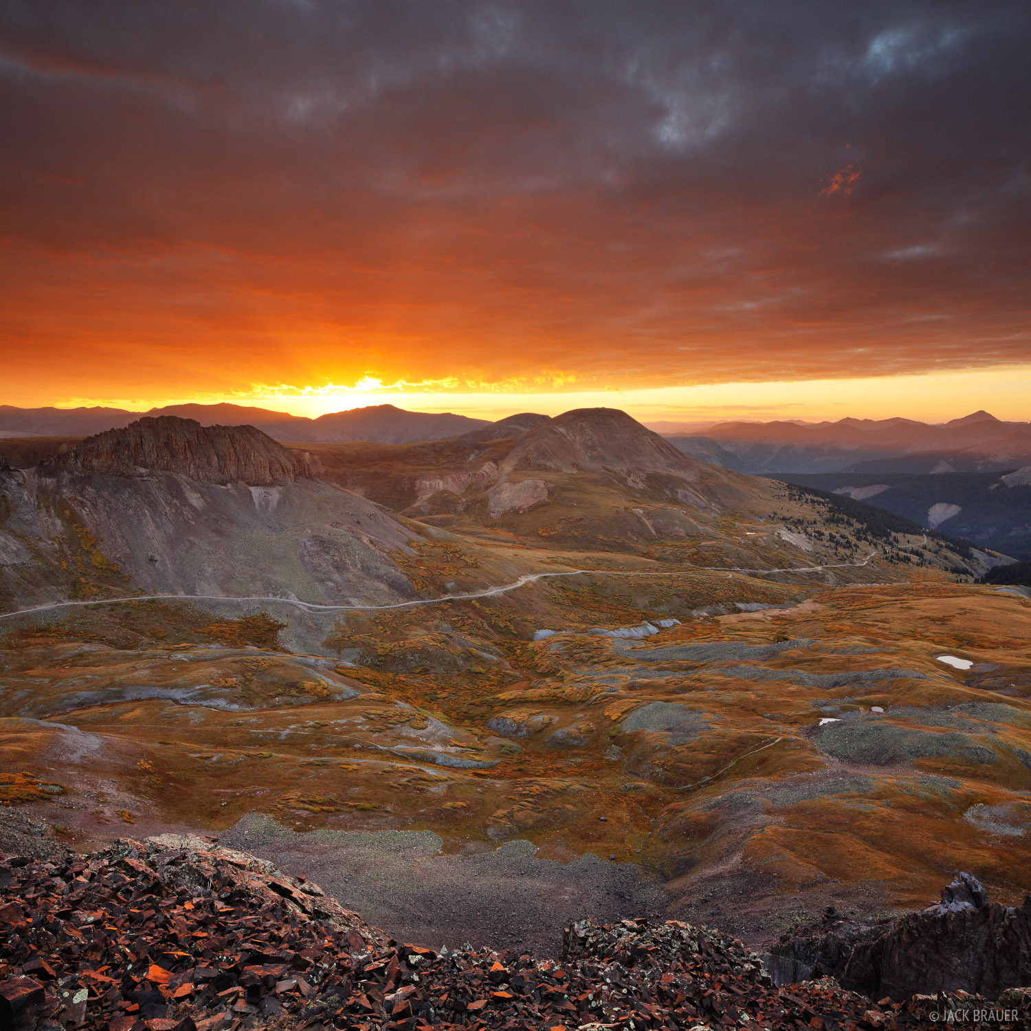 Stony Pass, sunrise, Silverton, San Juan Mountains, Colorado, photo
