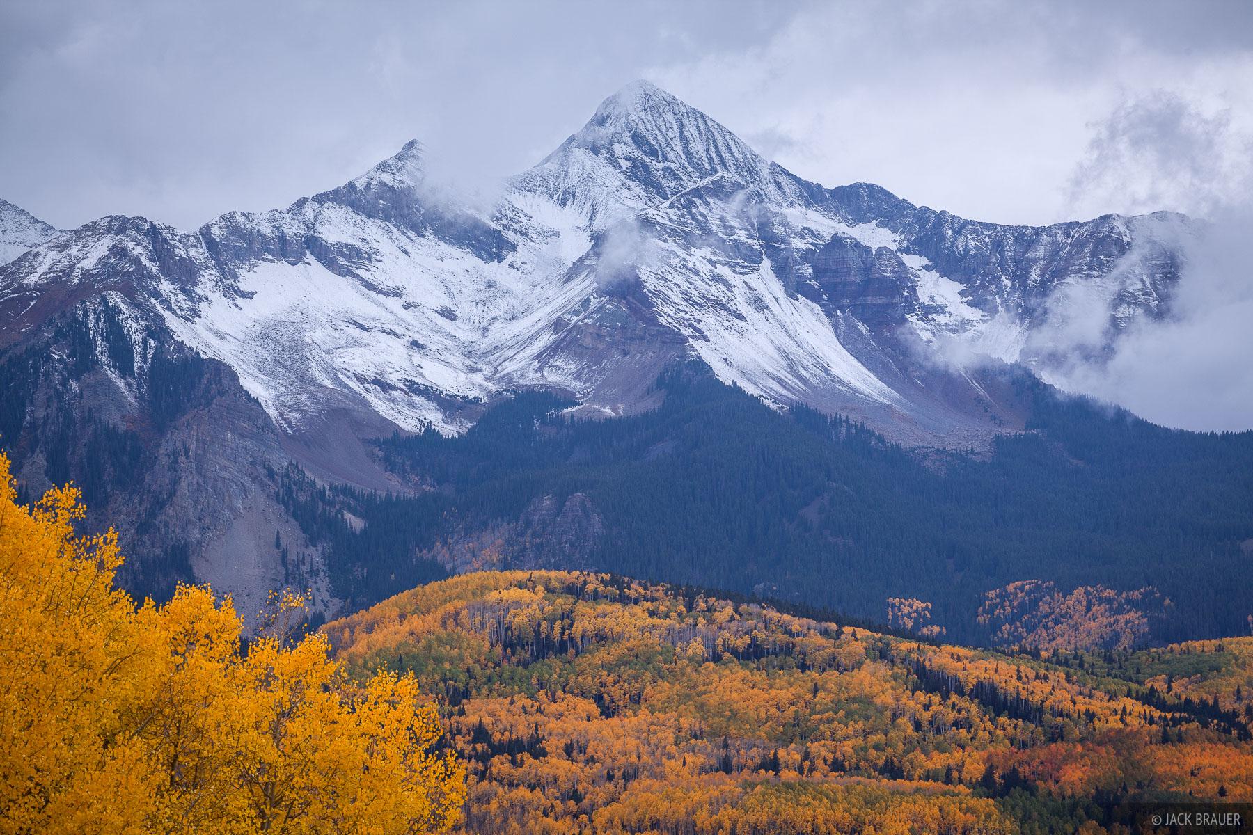 Wilson Peak Autumn Snow San Juan Mountains Colorado
