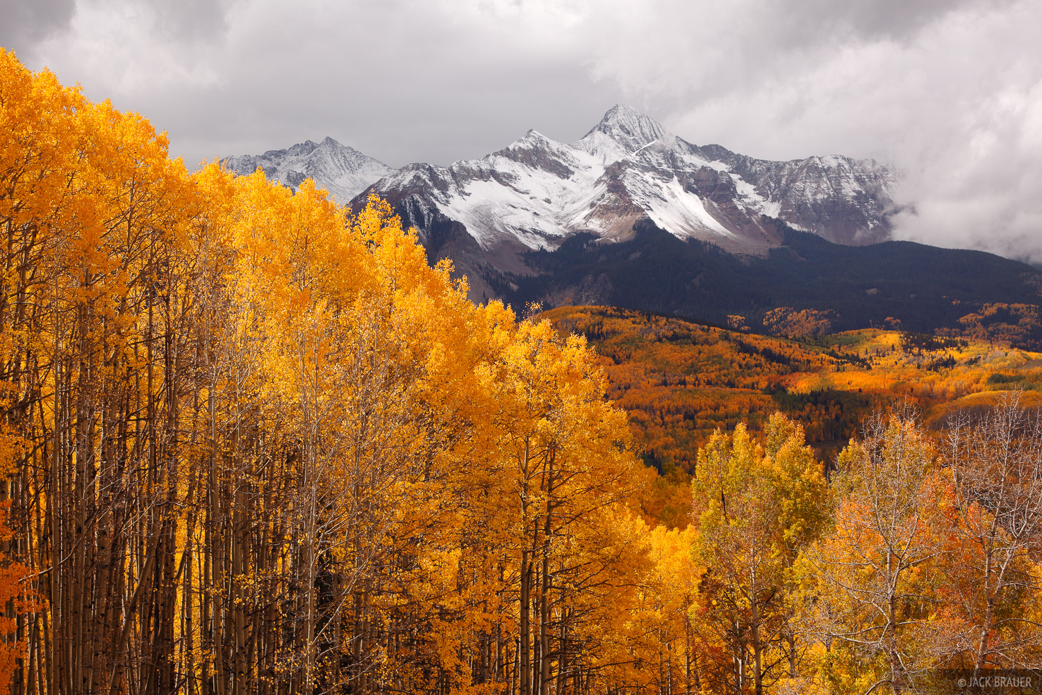 Wilson Peak, San Juan Mountains, Colorado, fourteener, autumn, aspens, Telluride, photo