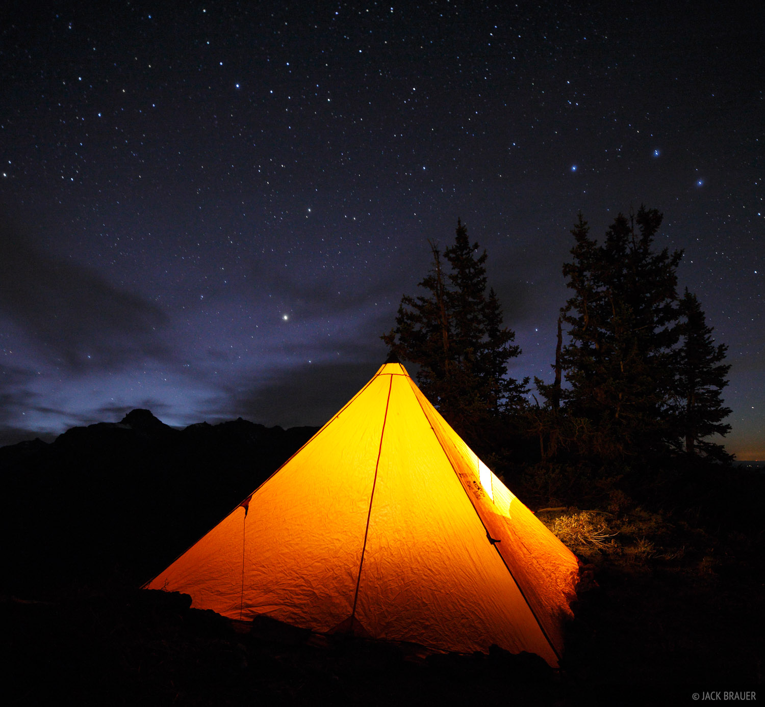 Hayden Mountain, San Juan Mountains, Colorado, tent, October, photo
