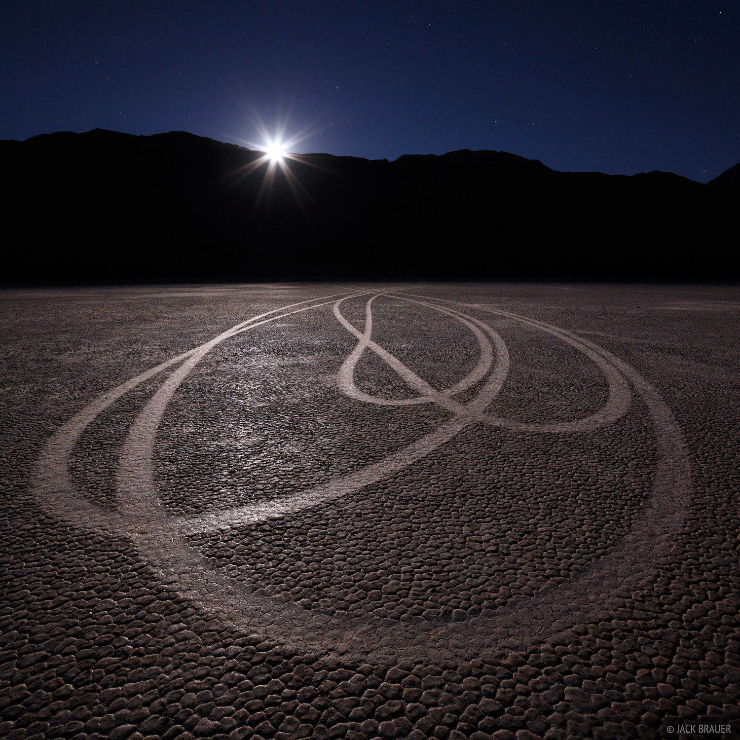 Racetrack, Death Valley, California, National Park, moon, photo