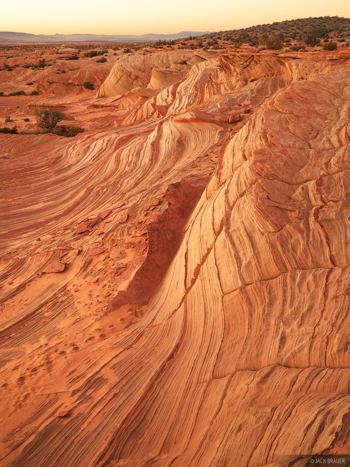 Sandstone, sunset, Page, Arizona, photo