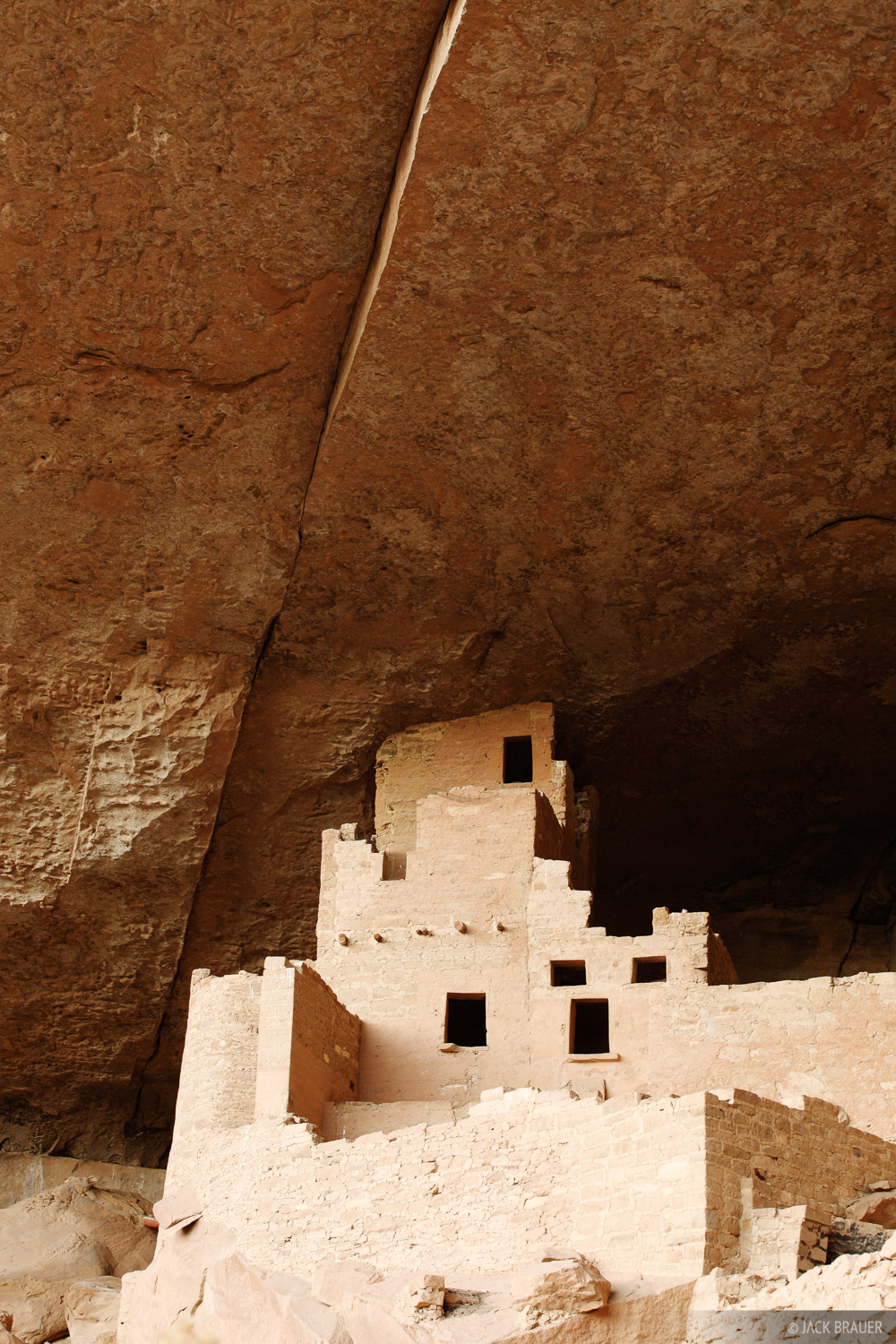 A building at the Cliff Palace ruins of Mesa Verde.