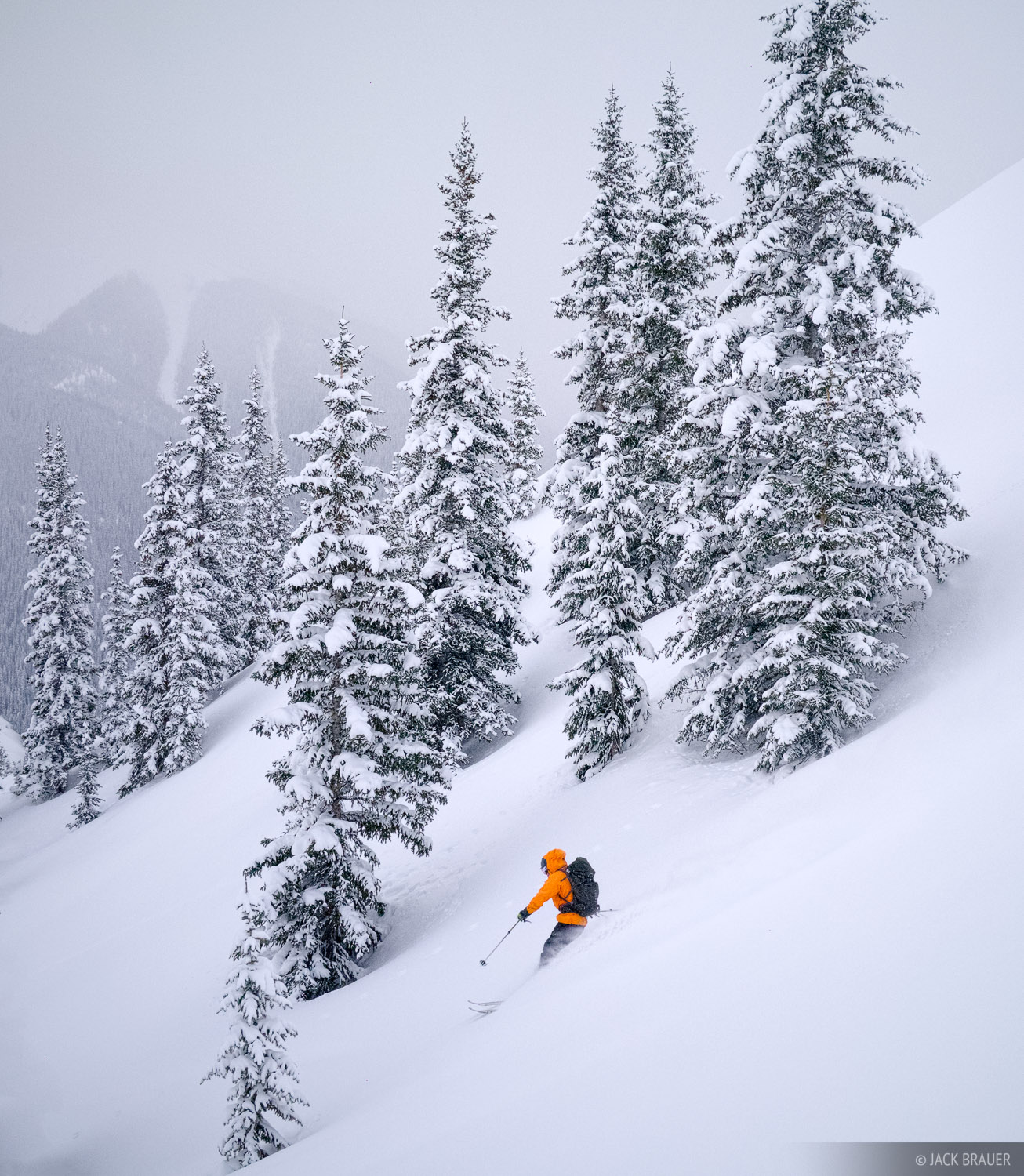 Powder, ski, San Juan Mountains, backcountry, Colorado, photo