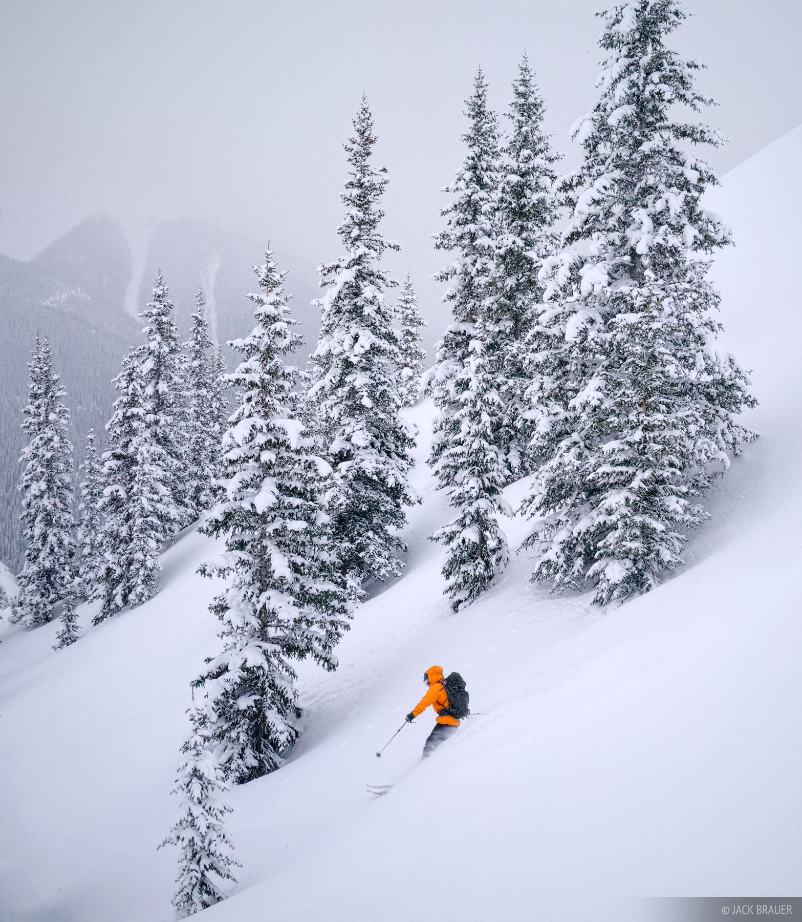 Powder, ski, San Juan Mountains, backcountry, Colorado, photo