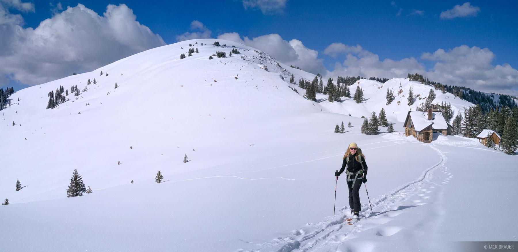 Resolution Mountain, Fowler/Hilliard Hut, Gore Range, Colorado, March, photo