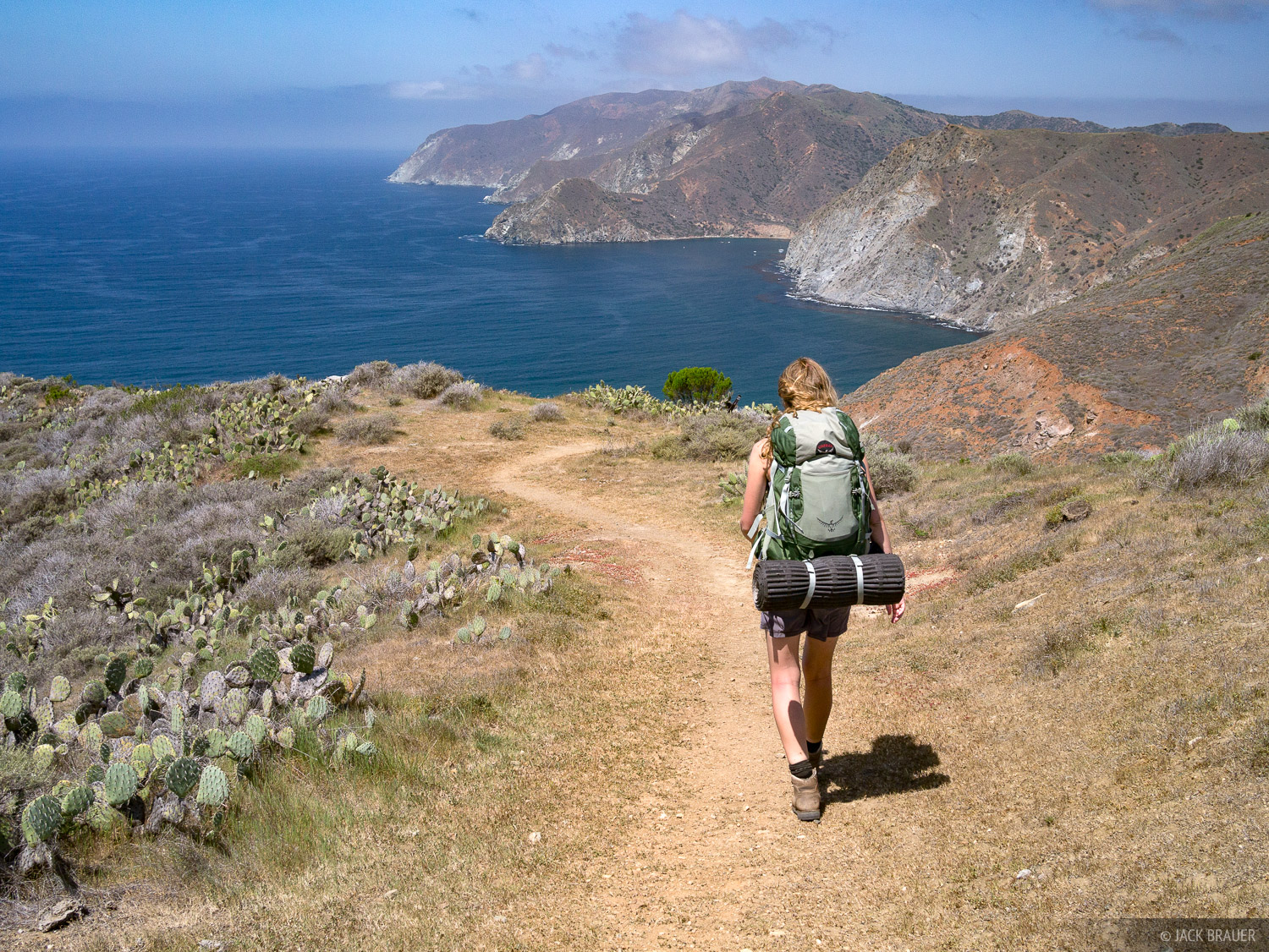 Hiking the Trans Catalina Trail in April.