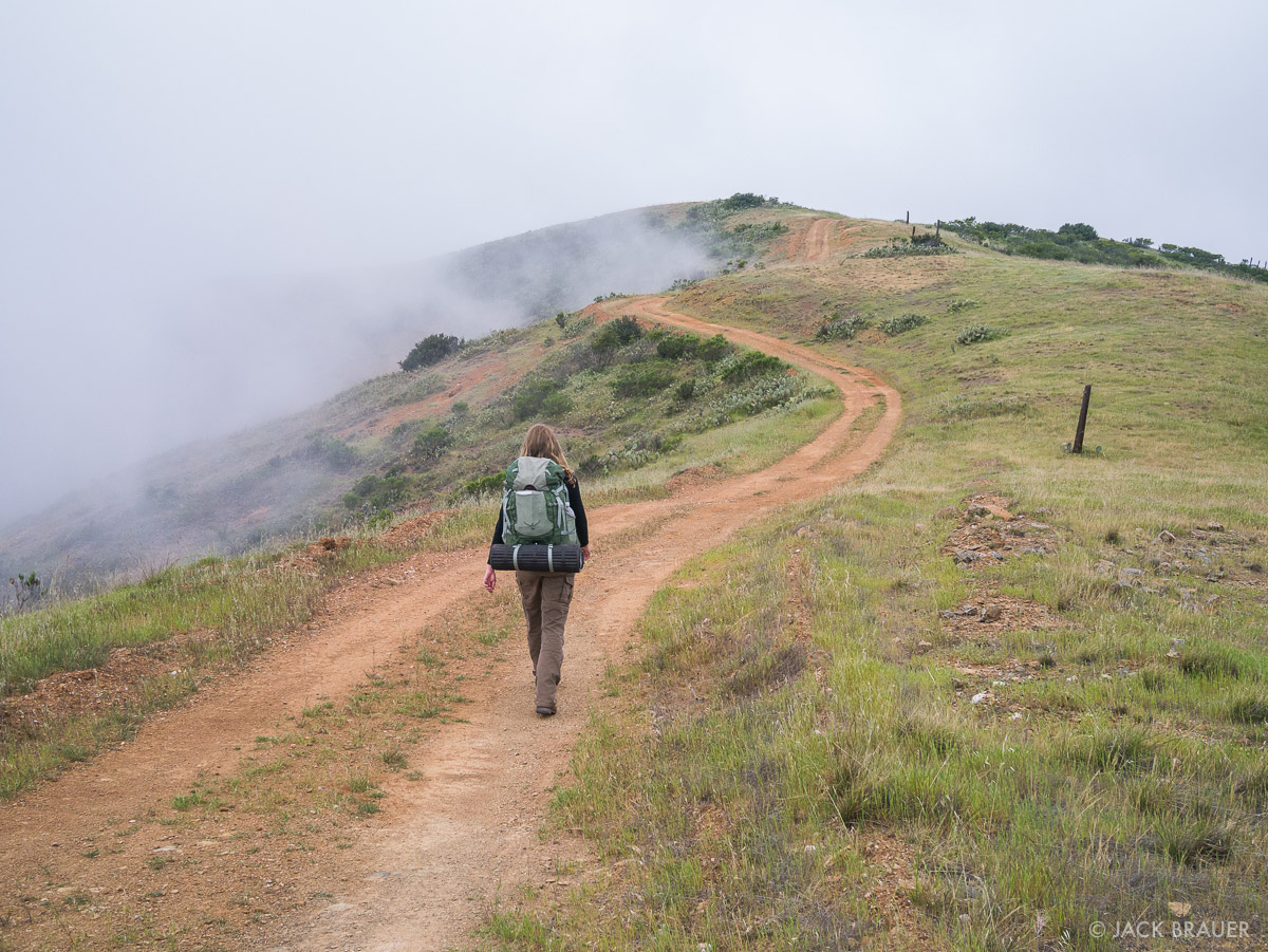 Hiking the Trans Catalina Trail in April, 2013.