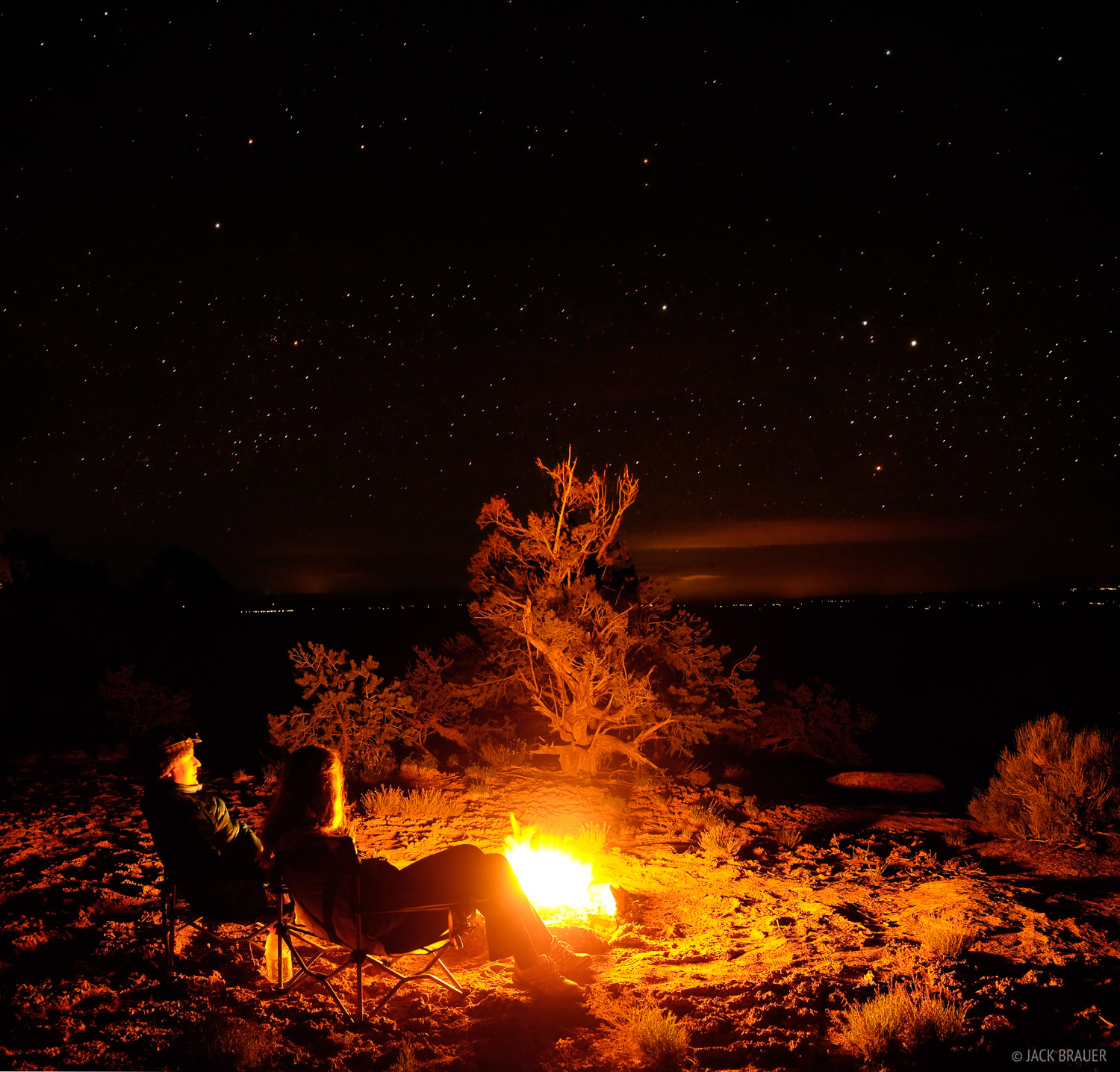 bonfire, Cedar Mesa, Utah, stars, Bears Ears National Monument, photo