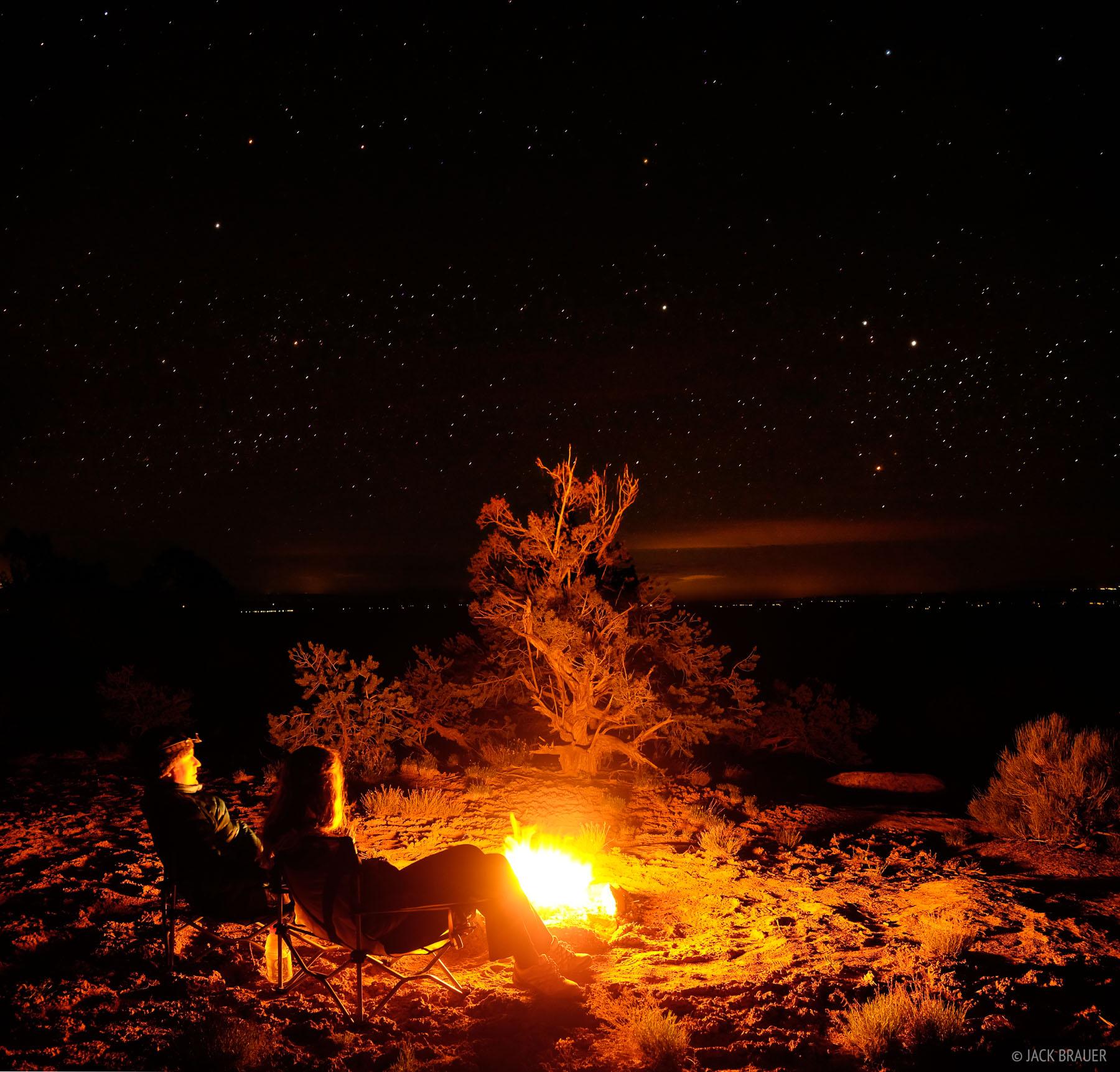 bonfire, Cedar Mesa, Utah, stars, Bears Ears National Monument, photo