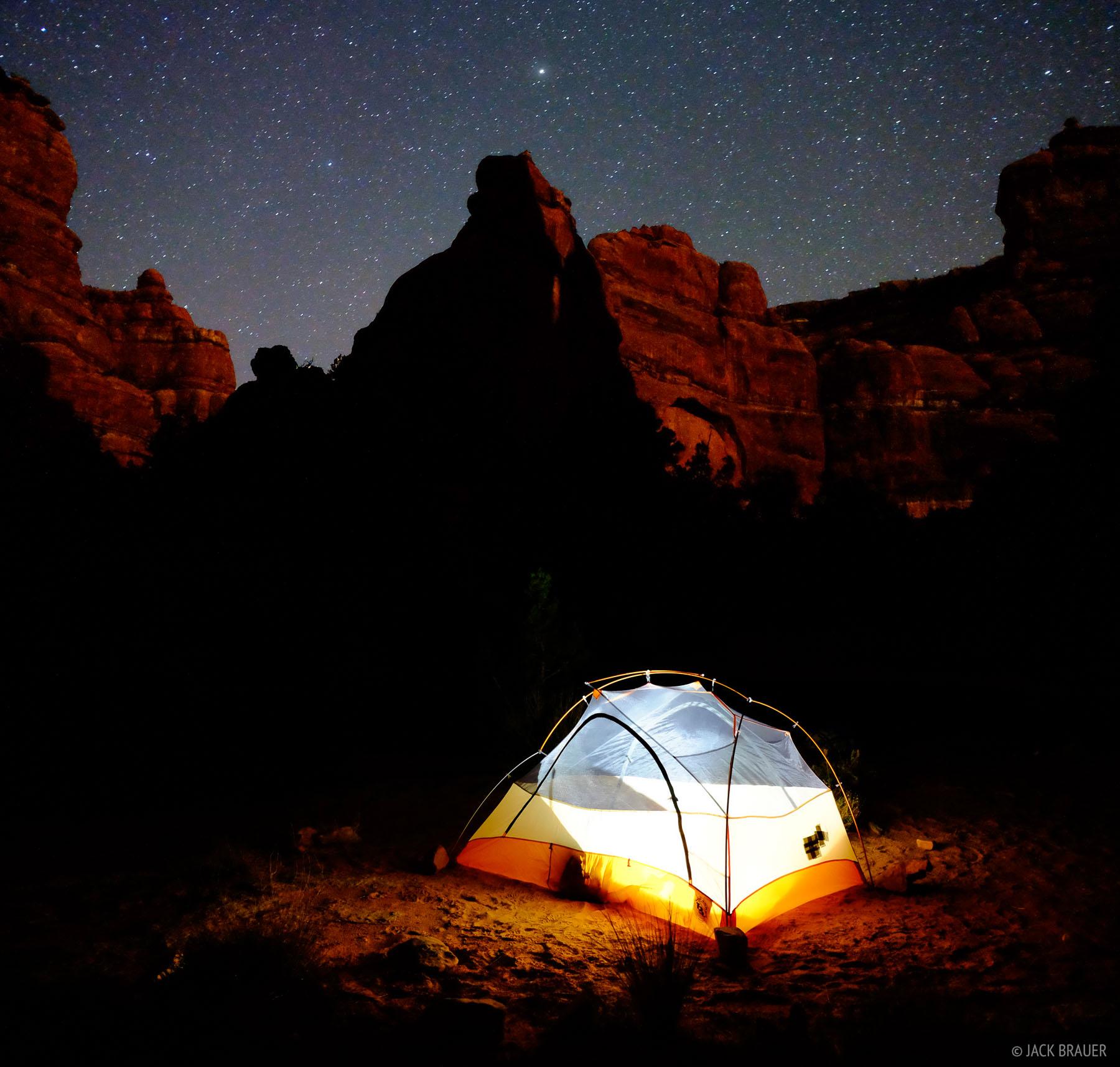 Owl Creek Canyon, Cedar Mesa, Utah, camping, stars, canyon, Bears Ears National Monument, photo