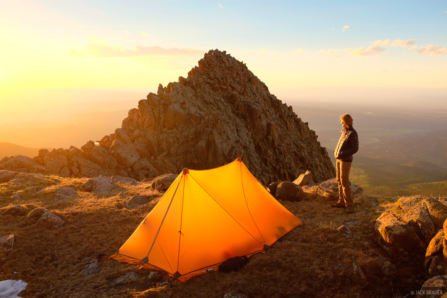 Sunset at our 12,900 foot camp on a high ridge near Mt. Sneffels - June.