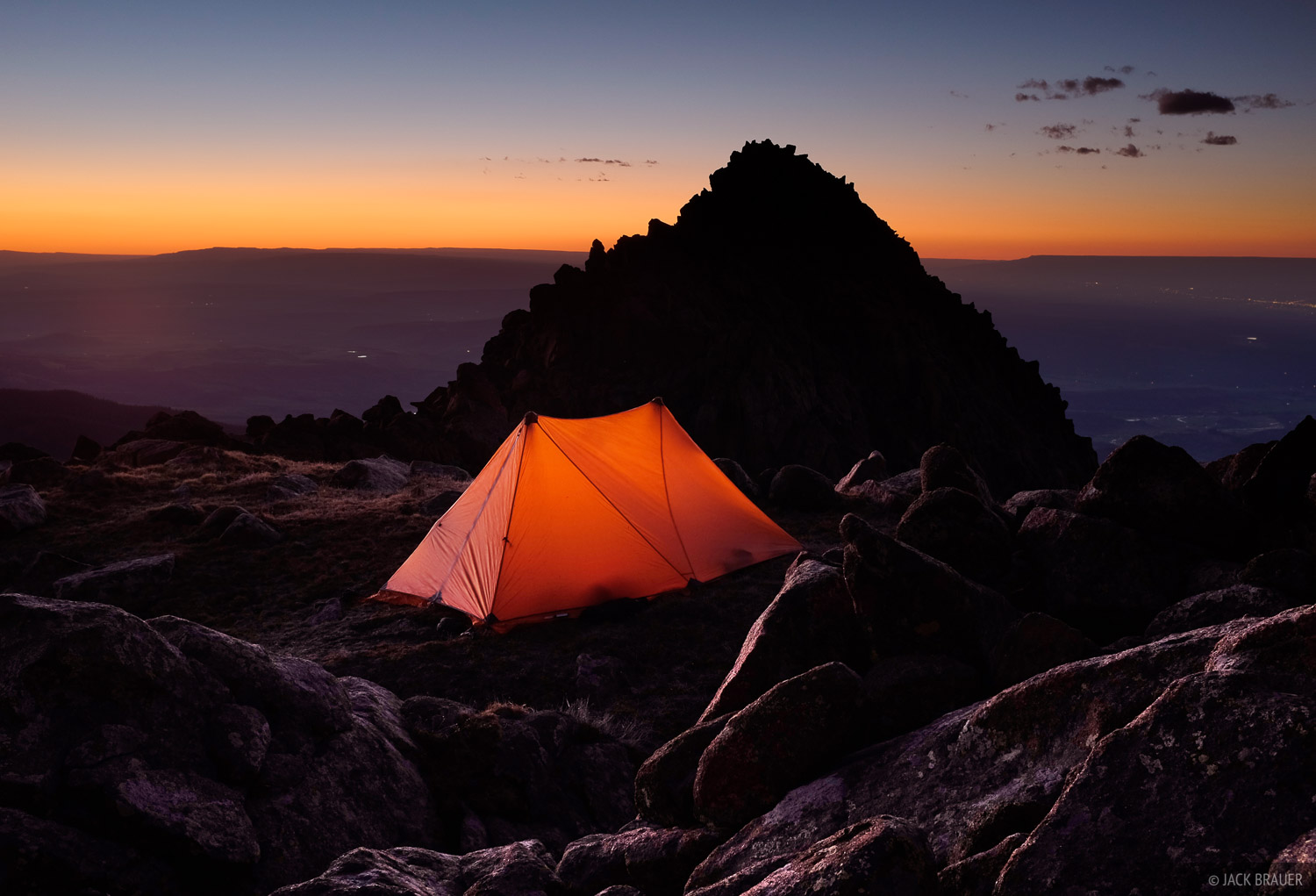 camping, Mt. Sneffels, San Juan Mountains, Colorado, June, photo