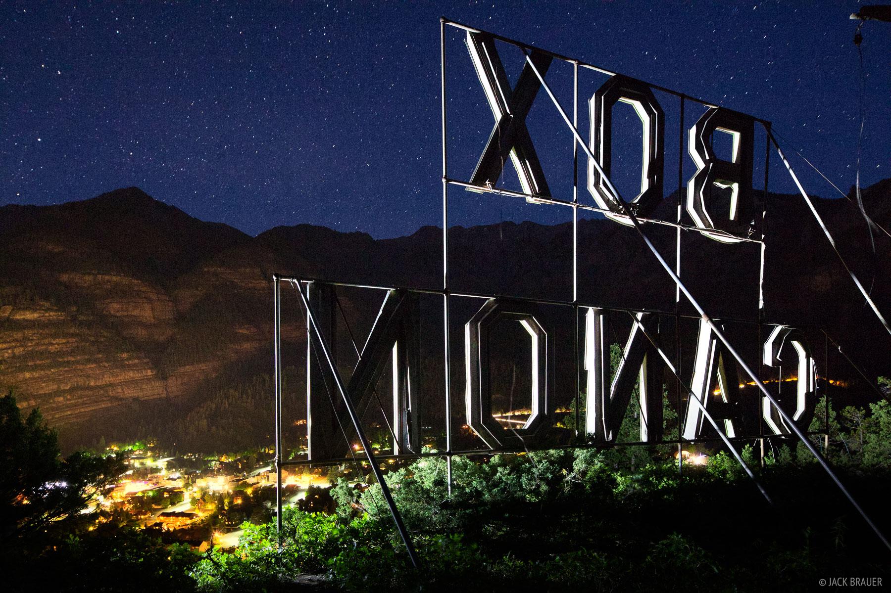 Box Canyon, sign, Ouray, Colorado, photo