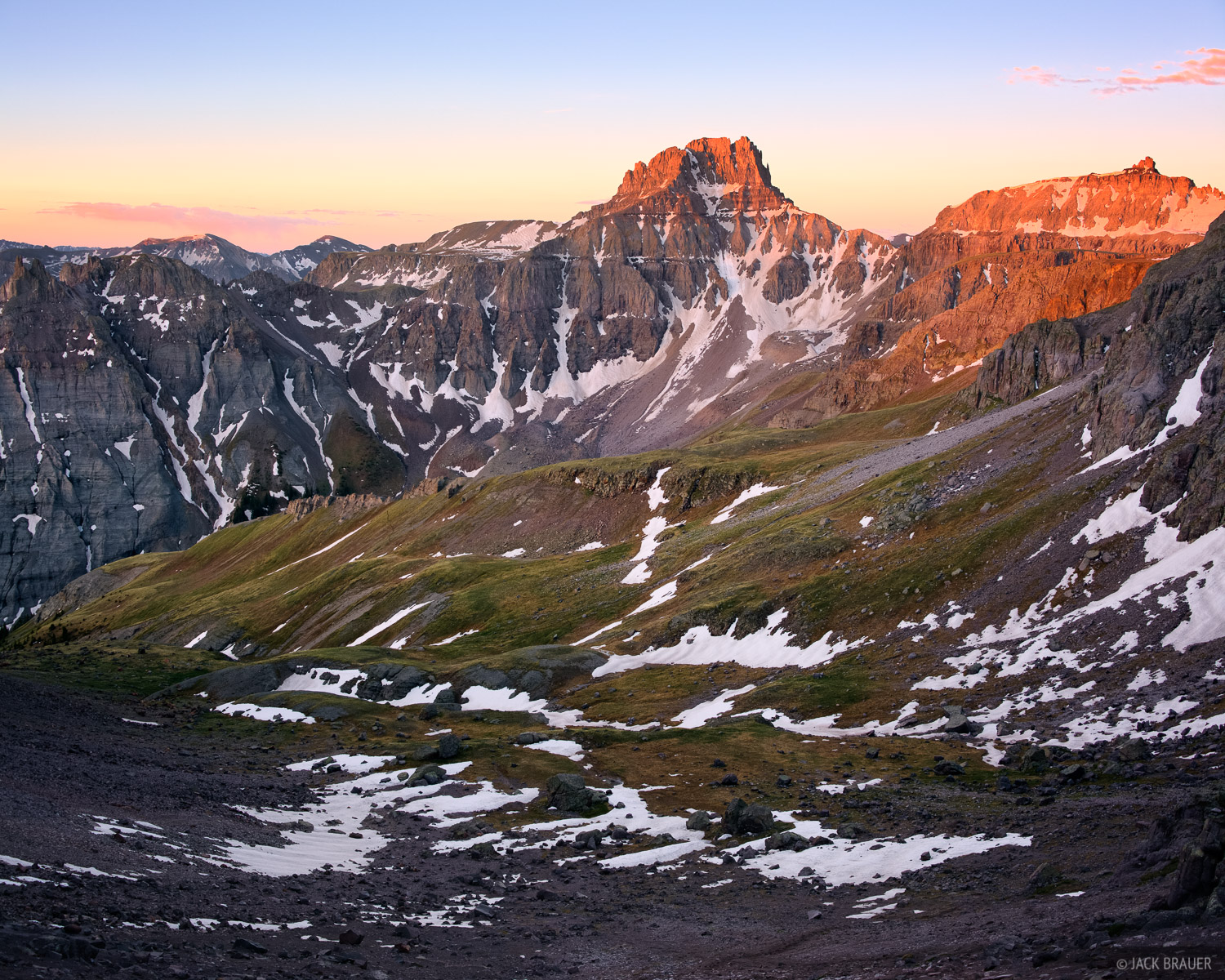 Potosi Peak, San Juan Mountains, Colorado, June, sunrise, photo