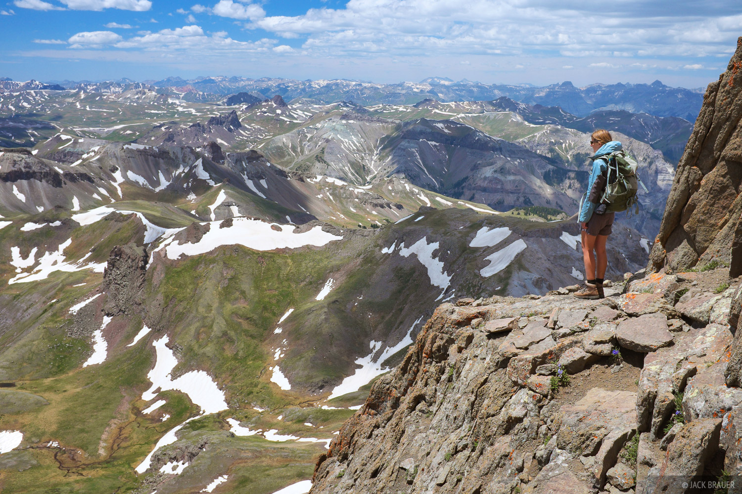 Wetterhorn Peak, San Juan Mountains, Colorado, climbing, photo