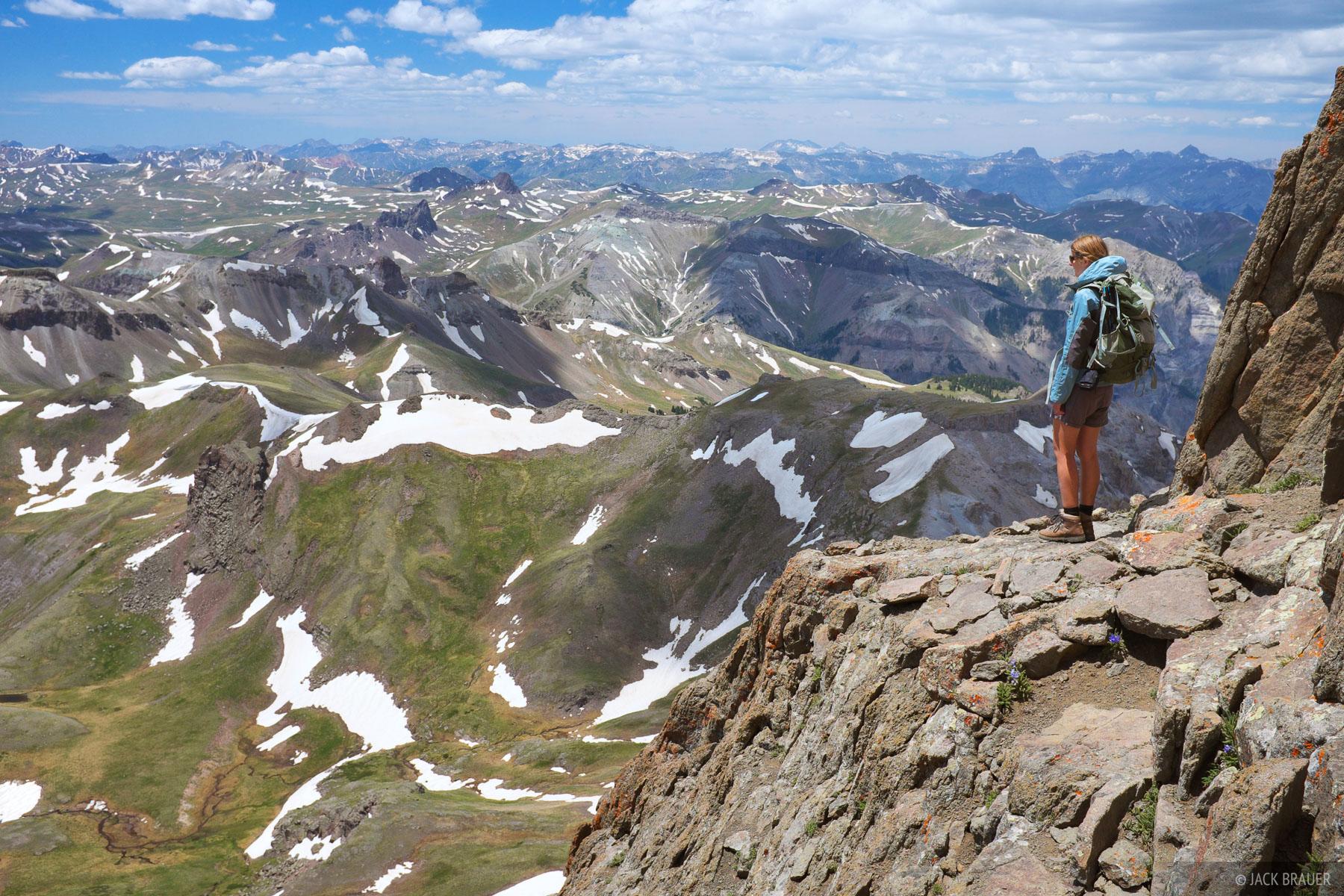 Wetterhorn Peak, San Juan Mountains, Colorado, climbing, photo