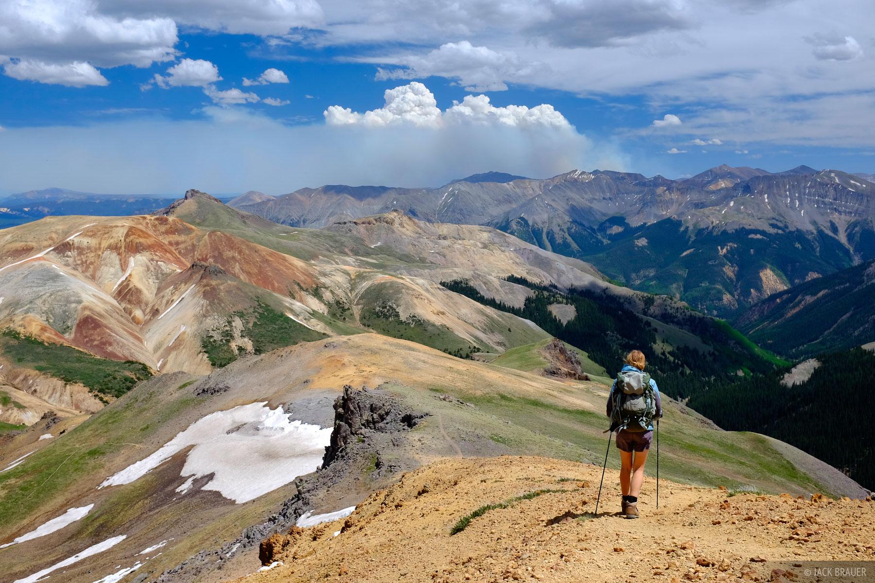 Wetterhorn Peak, San Juan Mountains, Colorado, smoke, wildfire, West Fork, photo