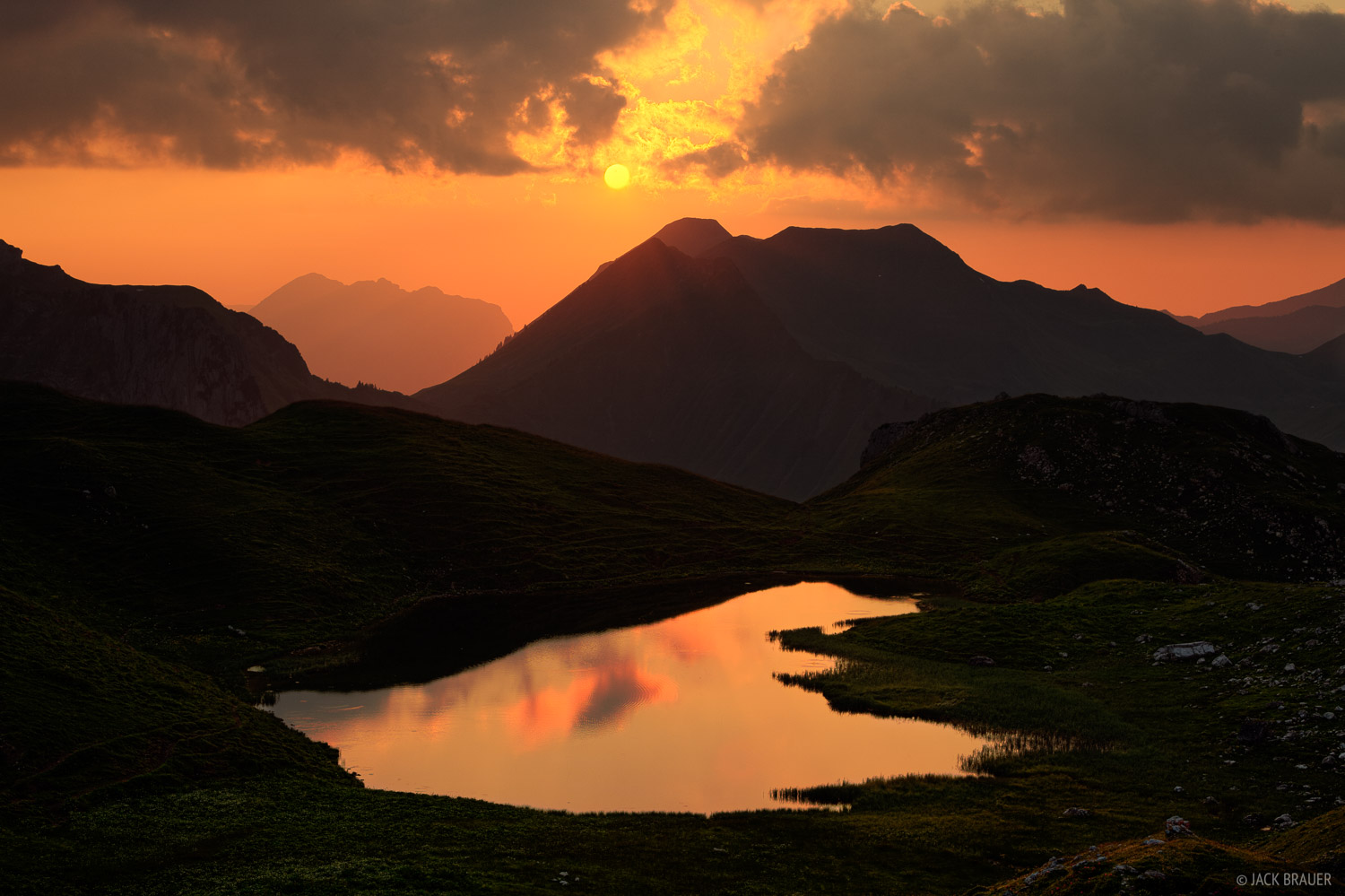 Allgäuer Alps, Germany, Hochalpsee, sunset, photo