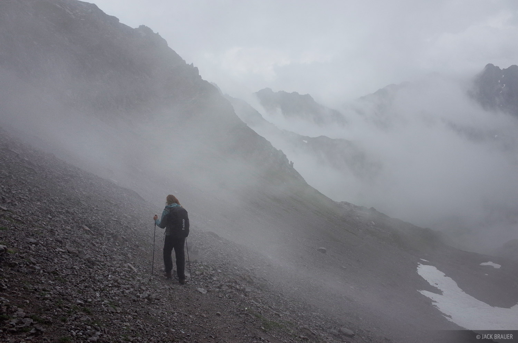 Lechtal Alps, Austria, hiking, fog, photo