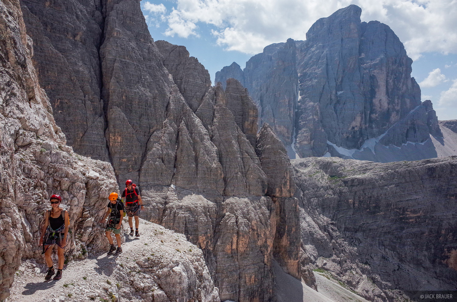 Dolomites, Italy, via ferrata, Strada degli Alpini, Zwolferkofel, photo