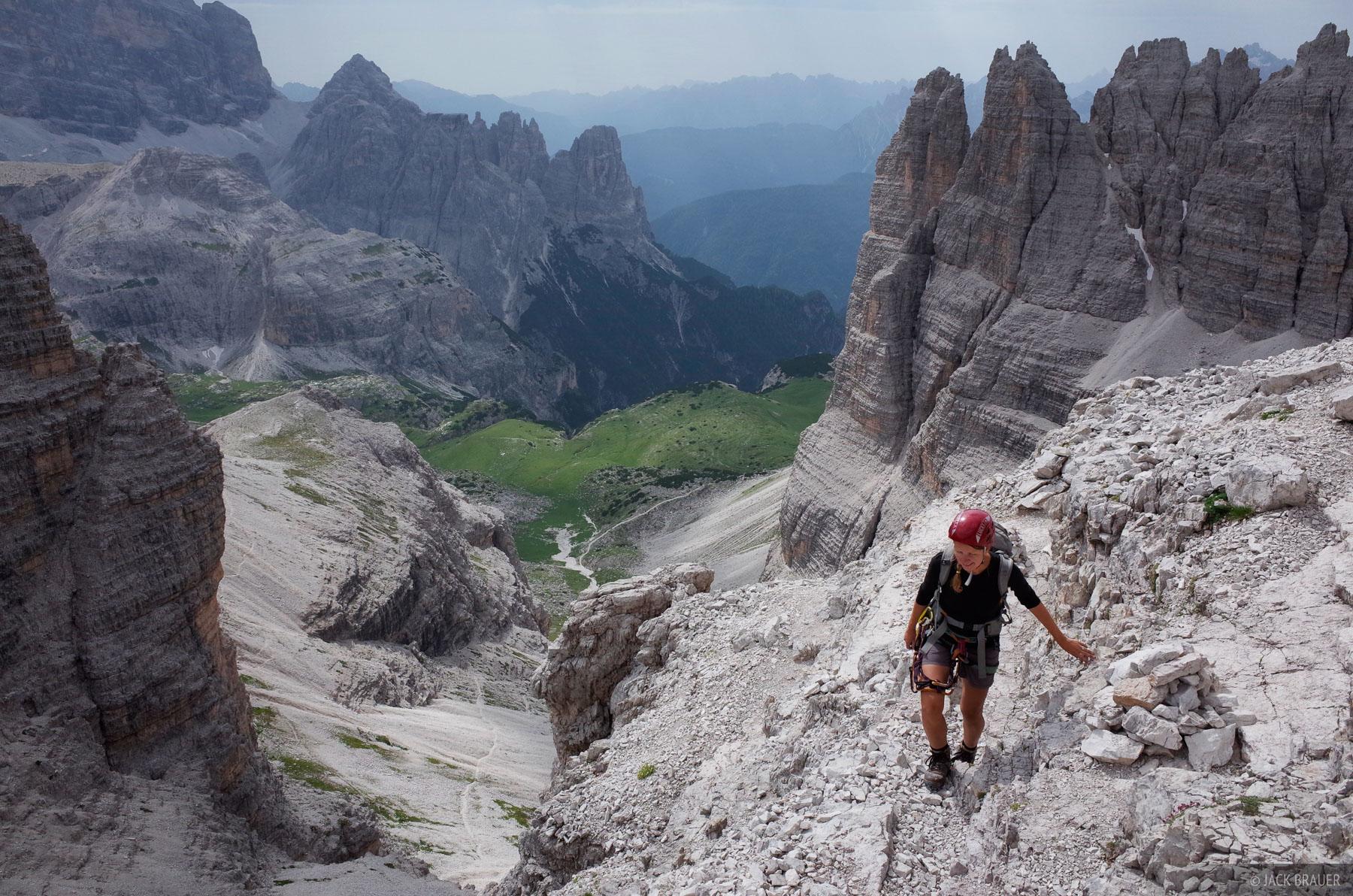 Dolomites, Italy, via ferrata, Monte Paterno, photo