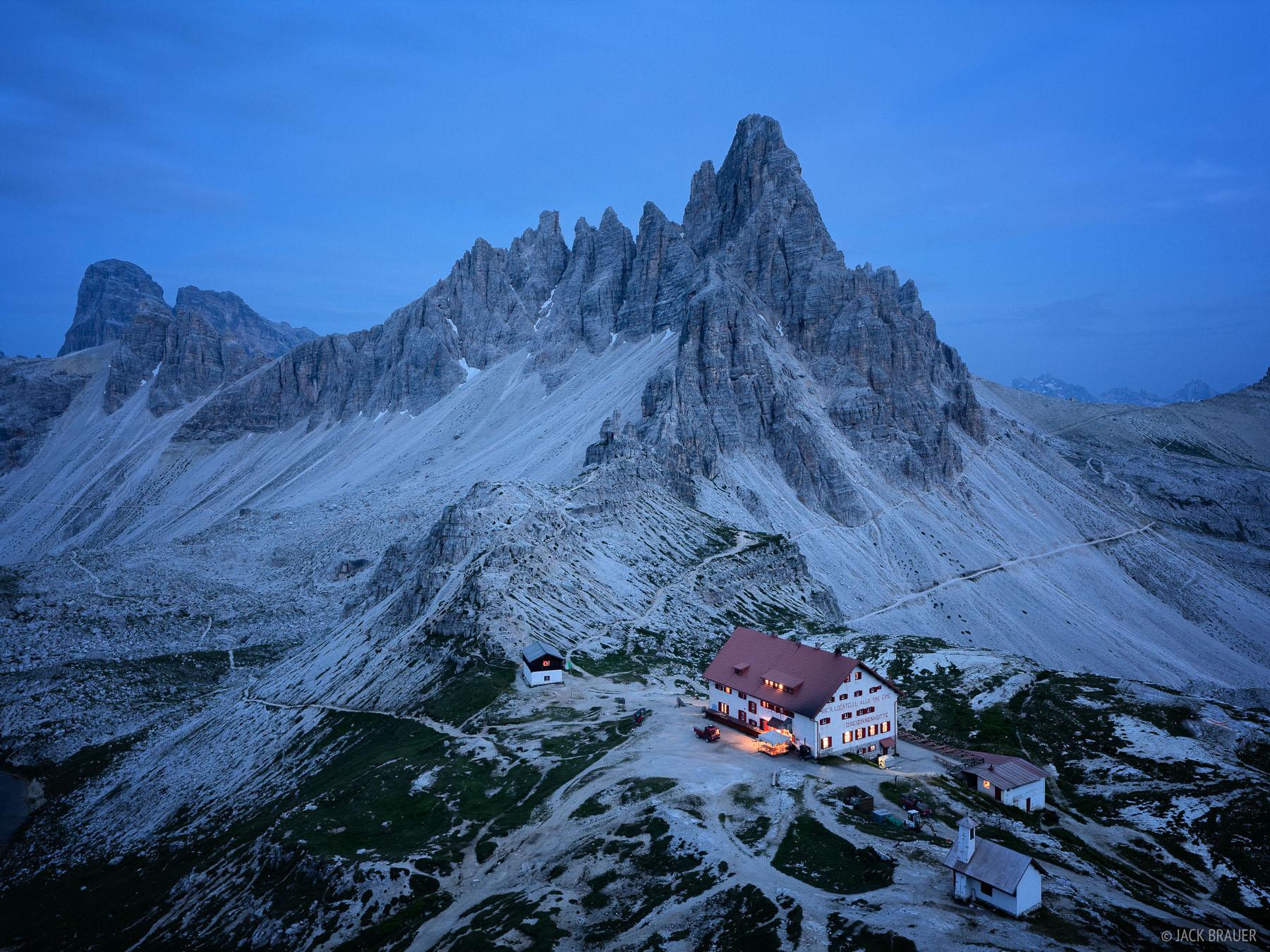 Dolomites, Italy, hut, Dreizinnenh, photo