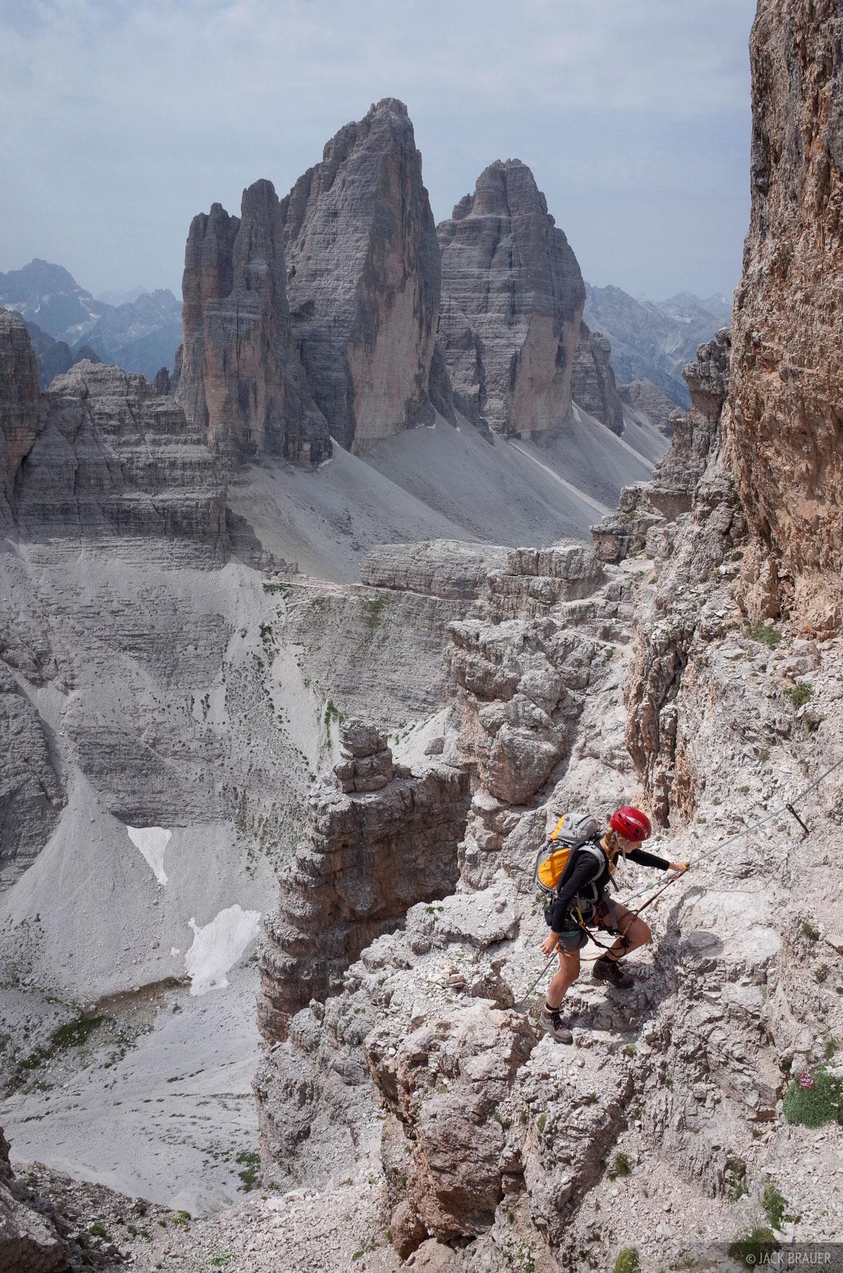 Dolomites, Italy, via ferrata, Monte Paterno, Tre Cime, Sentiero delle Forcella, photo