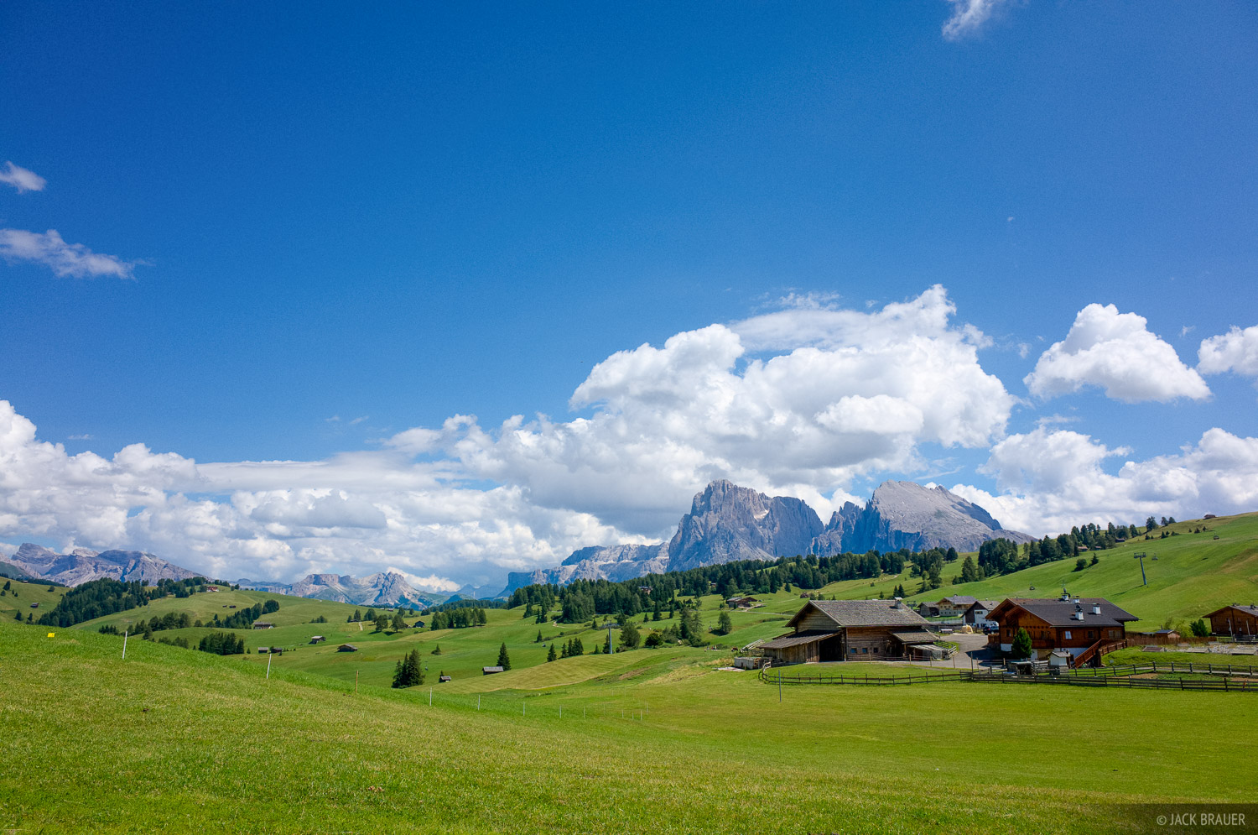 Alpe di Siusi, Dolomites, Italy, Rosengarten, photo
