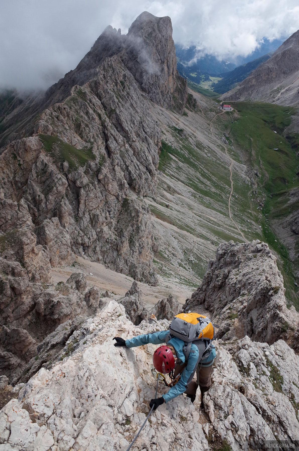 Dolomites, Italy, Rosengarten, via ferrata, Maximilian, Maximiliansteig, Alpe di Tires, photo