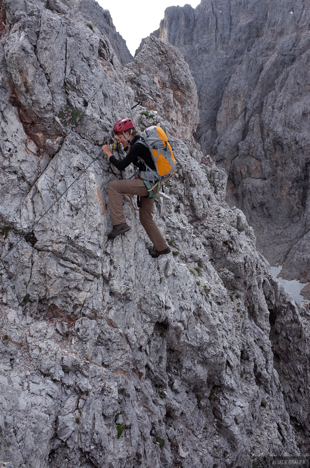 Dolomites, Italy, Rosengarten, via ferrata, Laurenzi, Molignon, photo
