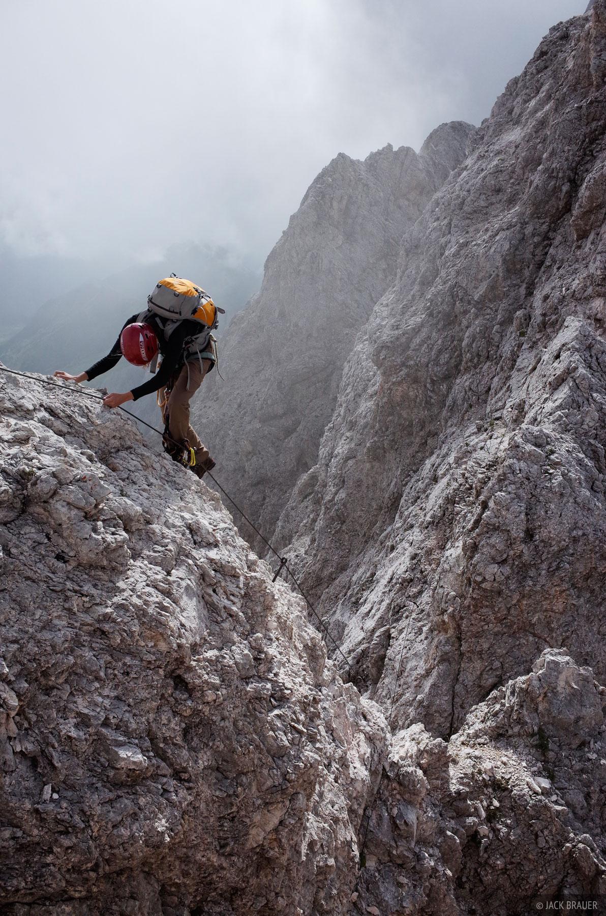 Dolomites, Italy, Rosengarten, via ferrata, Laurenzi, Molignon, photo