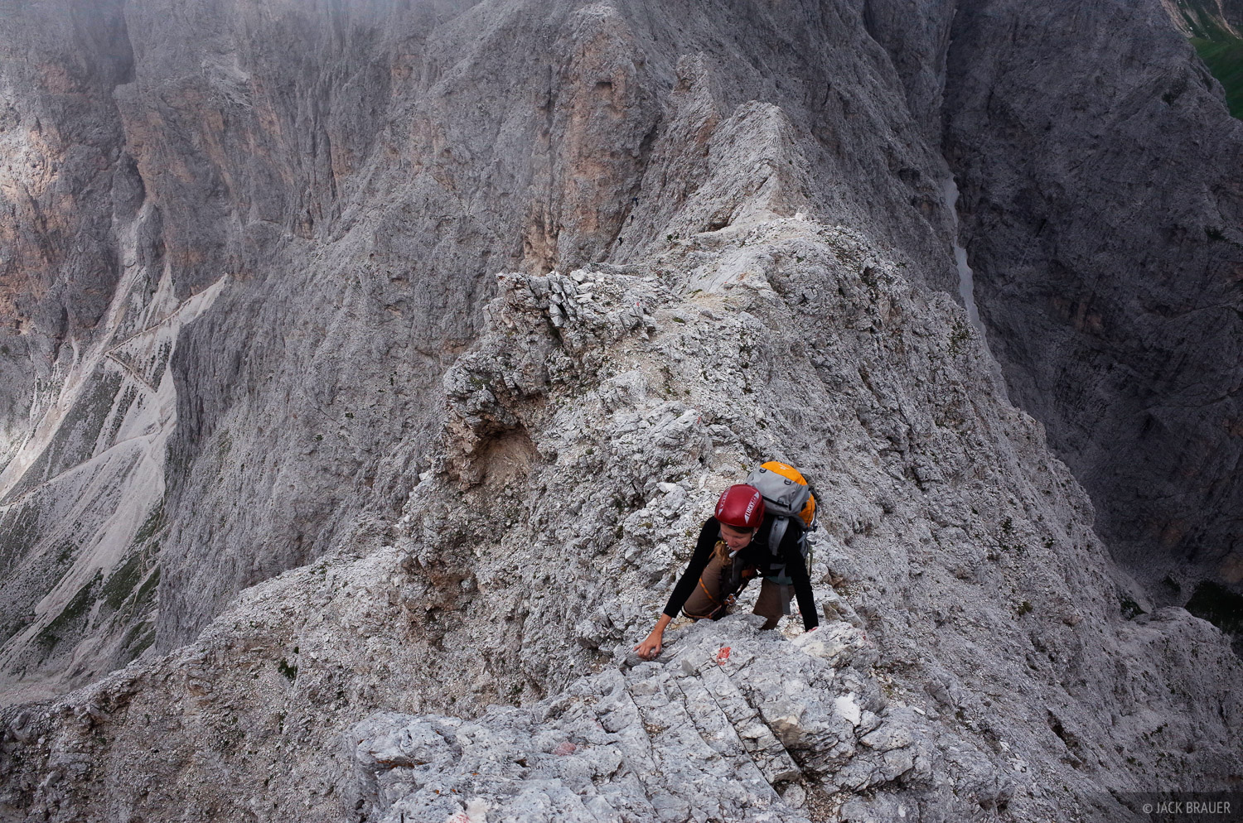 Dolomites, Italy, Rosengarten, via ferrata, Laurenzi, Molignon, Alps, photo