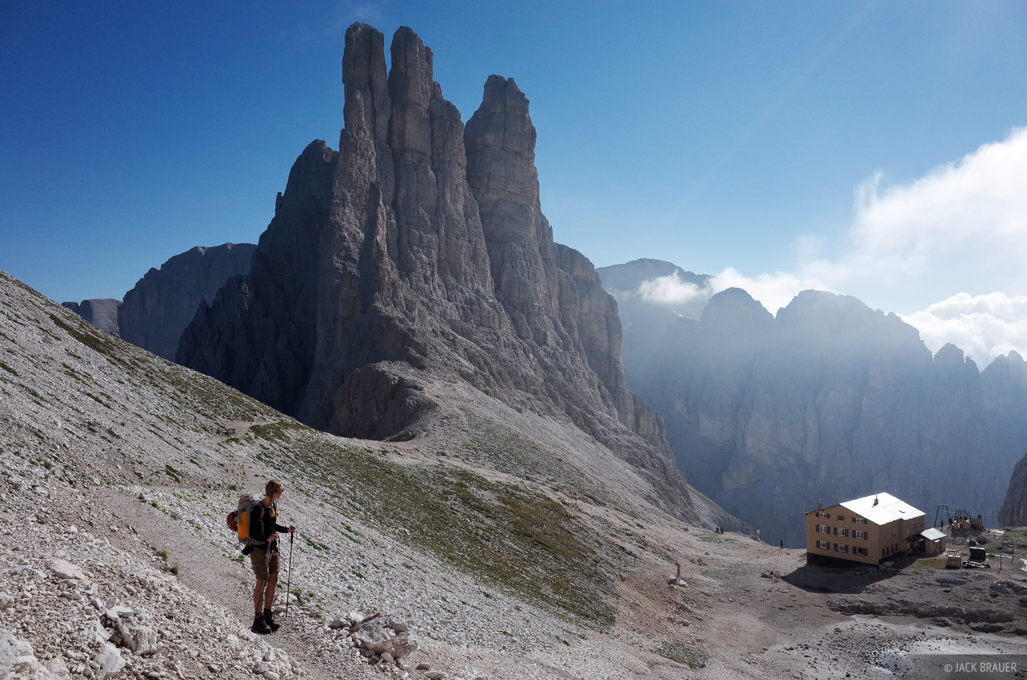 Dolomites, Italy, Rosengarten, Rifugio Re Alberto, photo