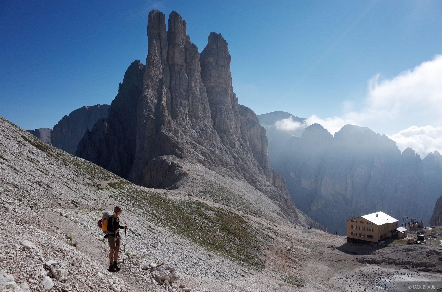 Dolomites, Italy, Rosengarten, Rifugio Re Alberto, photo
